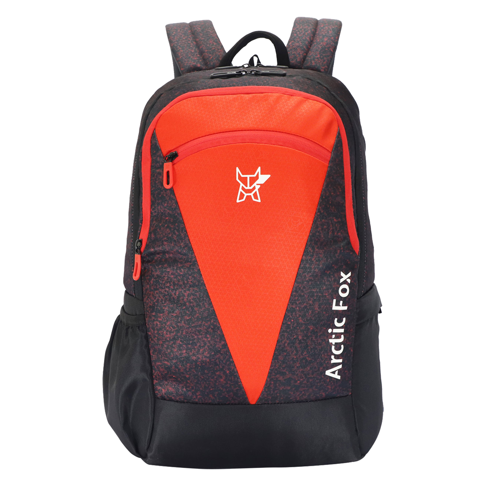 Arctic Fox Glitch 36 Litres Polyester Backpack (Smart Organizer, FJUBPKFIRON034036, Fiery Red)_1