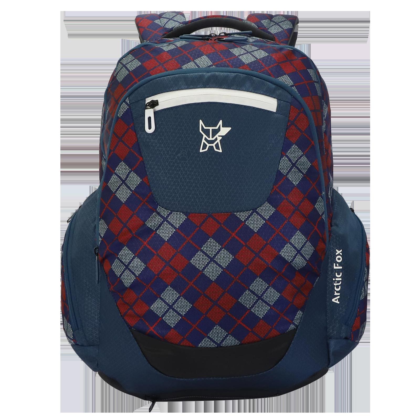 Arctic Fox Scott Checks 33.5 Litres Polyester Backpack (SBS Branded Zippers, FJUBPKDDVON037034, Deep Dive)_1