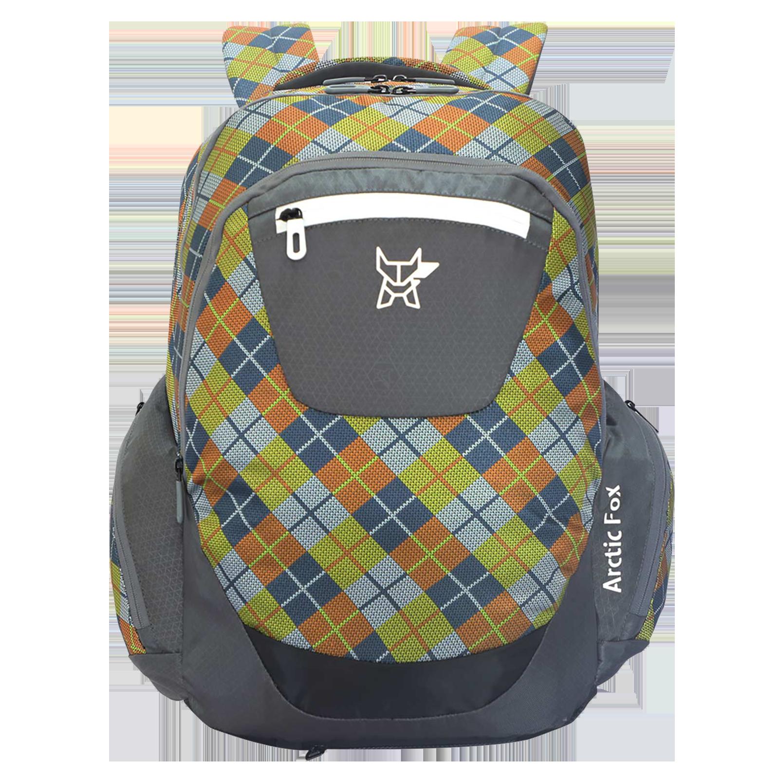 Arctic Fox Scott Checks 33.5 Litres Polyester Backpack (SBS Branded Zippers, FJUBPKCRKON038034, Castle Rock)_1