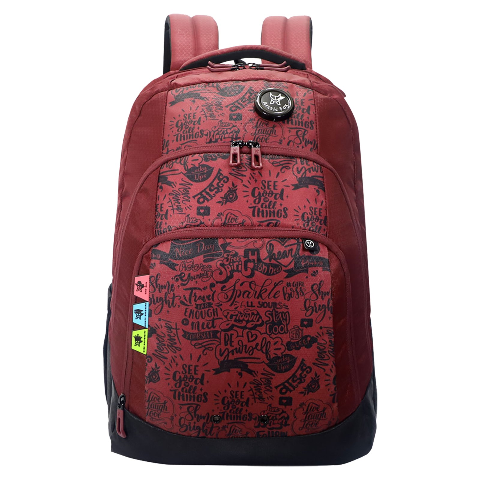 Arctic Fox Doodle 44 Litres PU Coated Polyester Backpack (3 Spacious Compartments, FTEBPKTPOWZ083044, Tawny Port)_1
