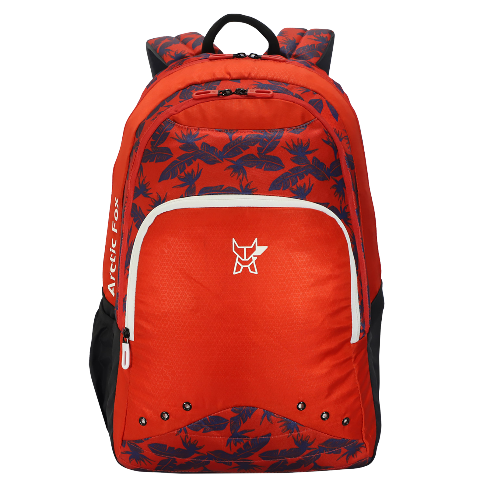 Arctic Fox 40 Litres Twill Polyester Backpack (Water Repellent Fabric, FJUBPKFIRON021040, Neon Fiery Red)_1