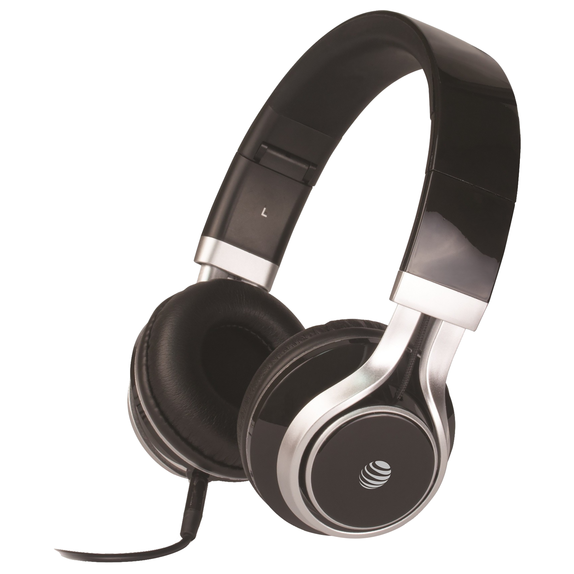 AT&T Over-Ear Noise Isolation Wired Headphone with Mic (Stereo Quality Sound, HPM10-BLU, Black)_1