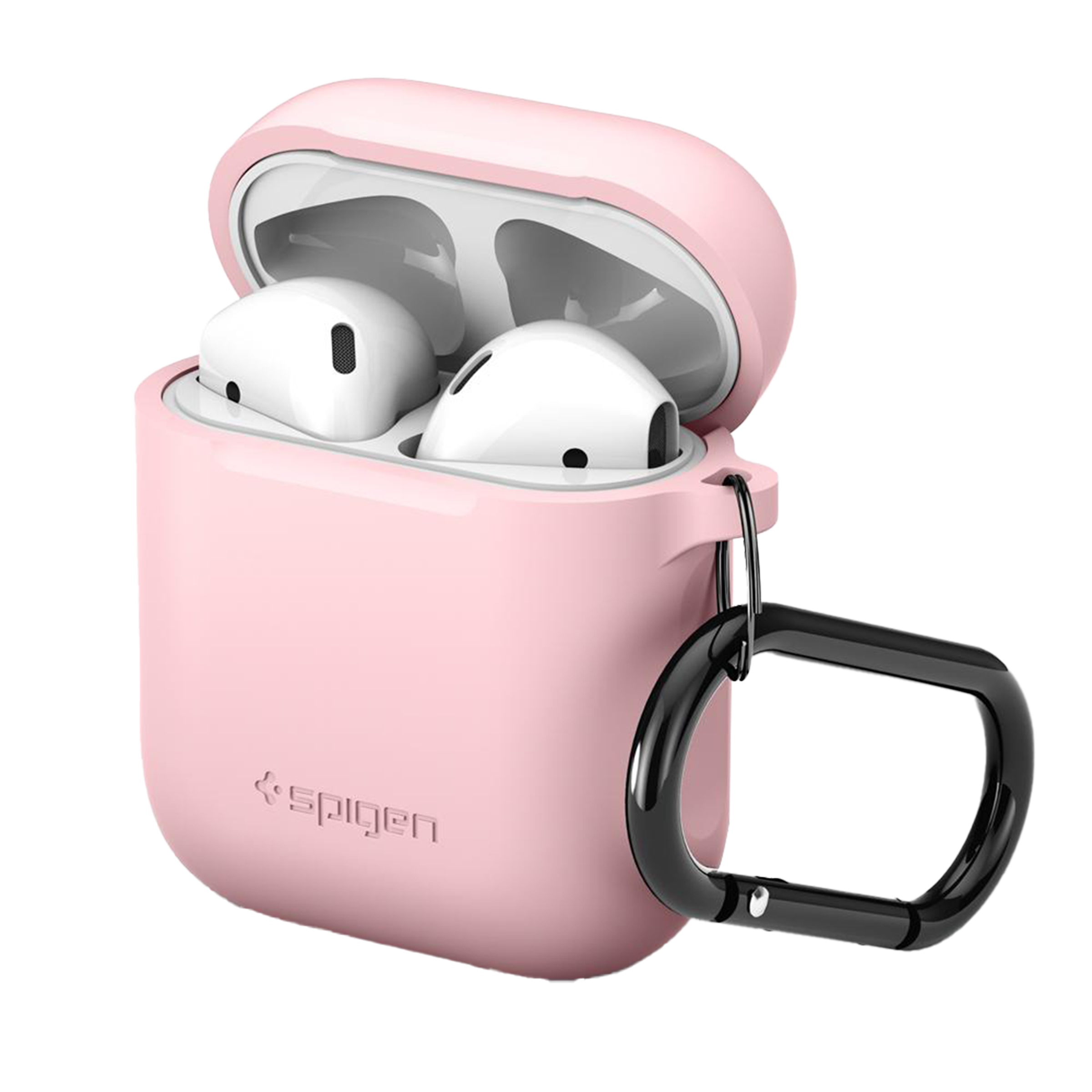 Spigen Rugged Armor Pro Thermoplastic Polyurethane Full Cover Case AirPods 1st Gen (Adjustable Strap, 066CS24810, Pink)_1