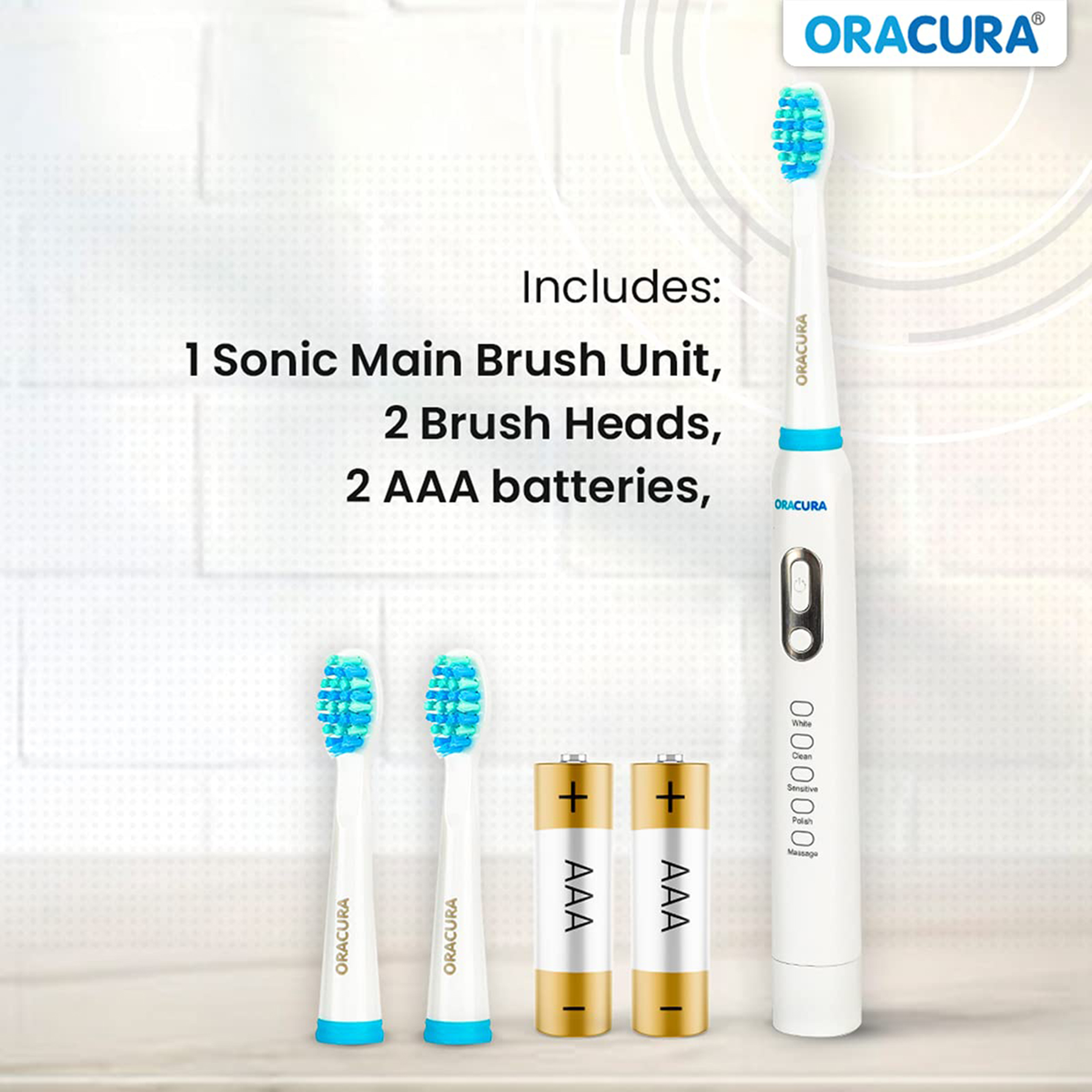 Oracura Electric Toothbrush For Unisex (Superior Gum Protection, SB100W, White )_4