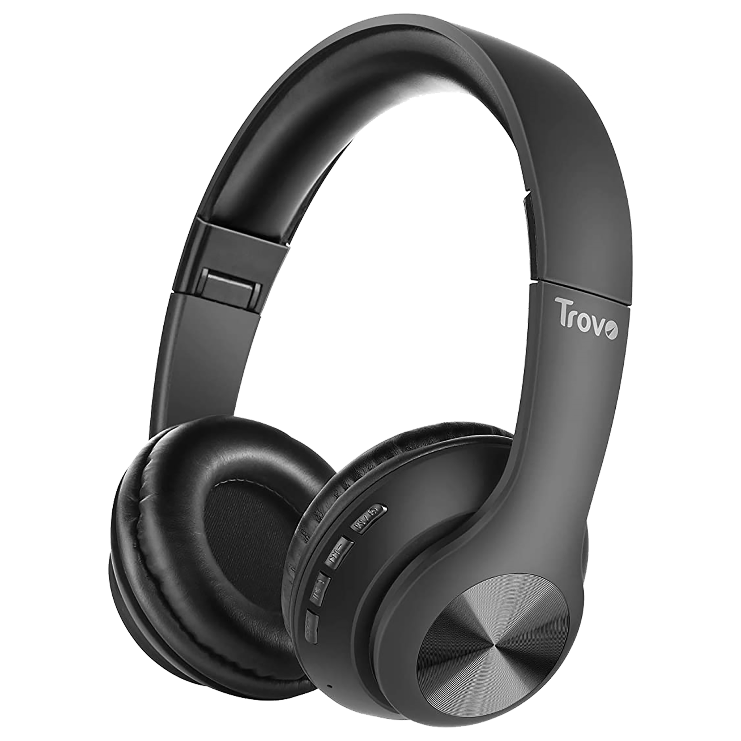 Trovo Over-Ear Wireless Headphone with Mic (Bluetooth 5.0, Water Resistant, RBH-307, Black)_1
