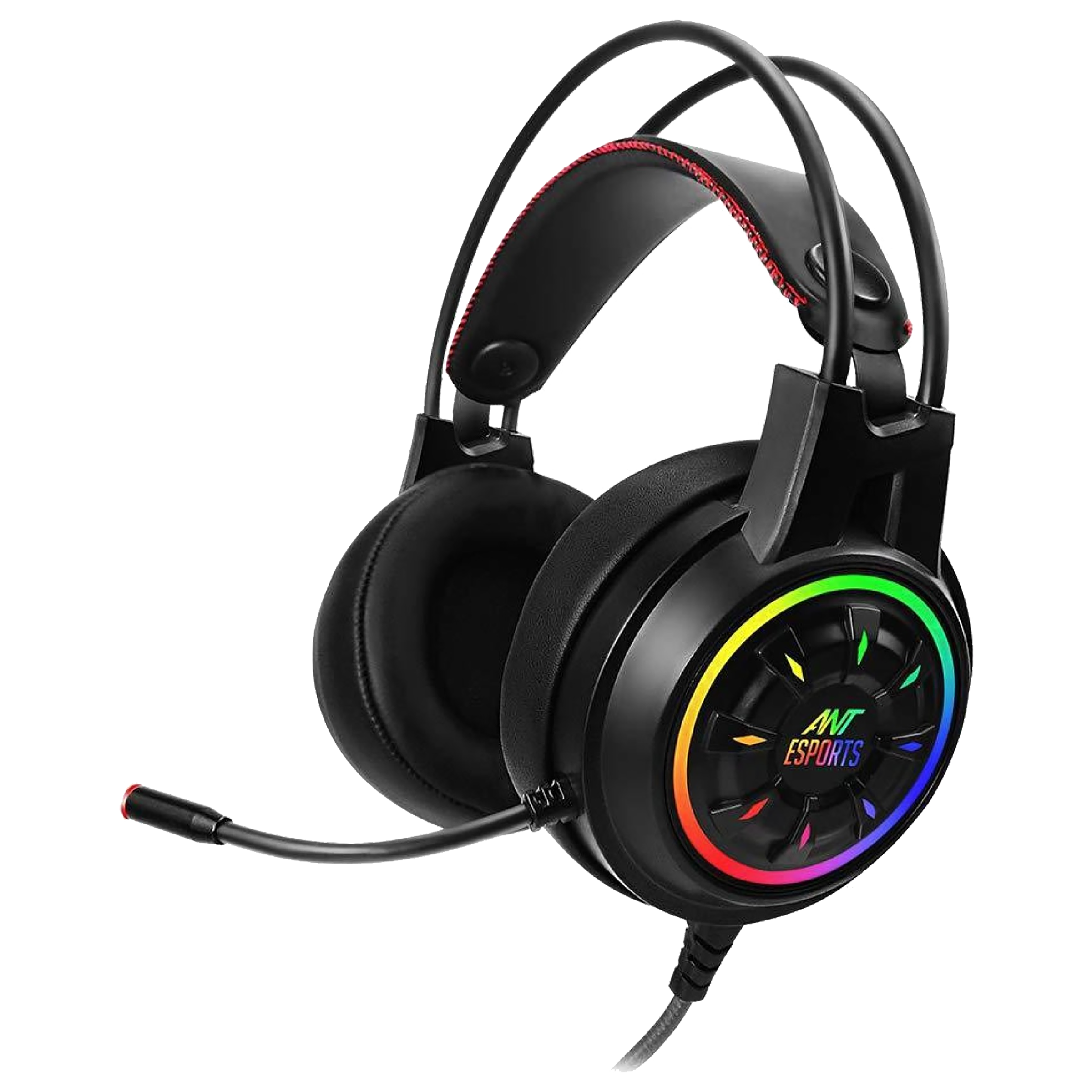 Ant Esports Over-Ear Active Noise Cancellation Wired Headset with Mic (HD RGB LED, H707, Black)_1