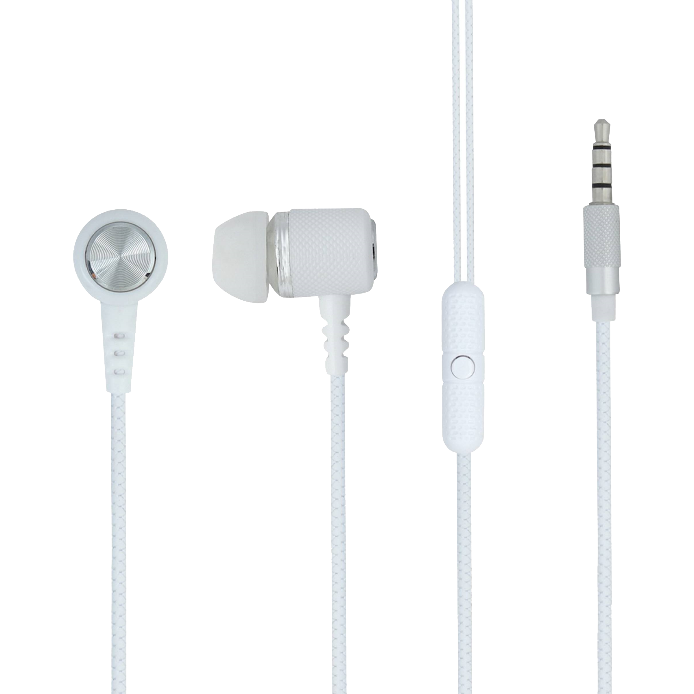 ARU In-Ear Wired Earphone with Mic (Crisp & Clear Sound Quality, AEP-44, White)_1