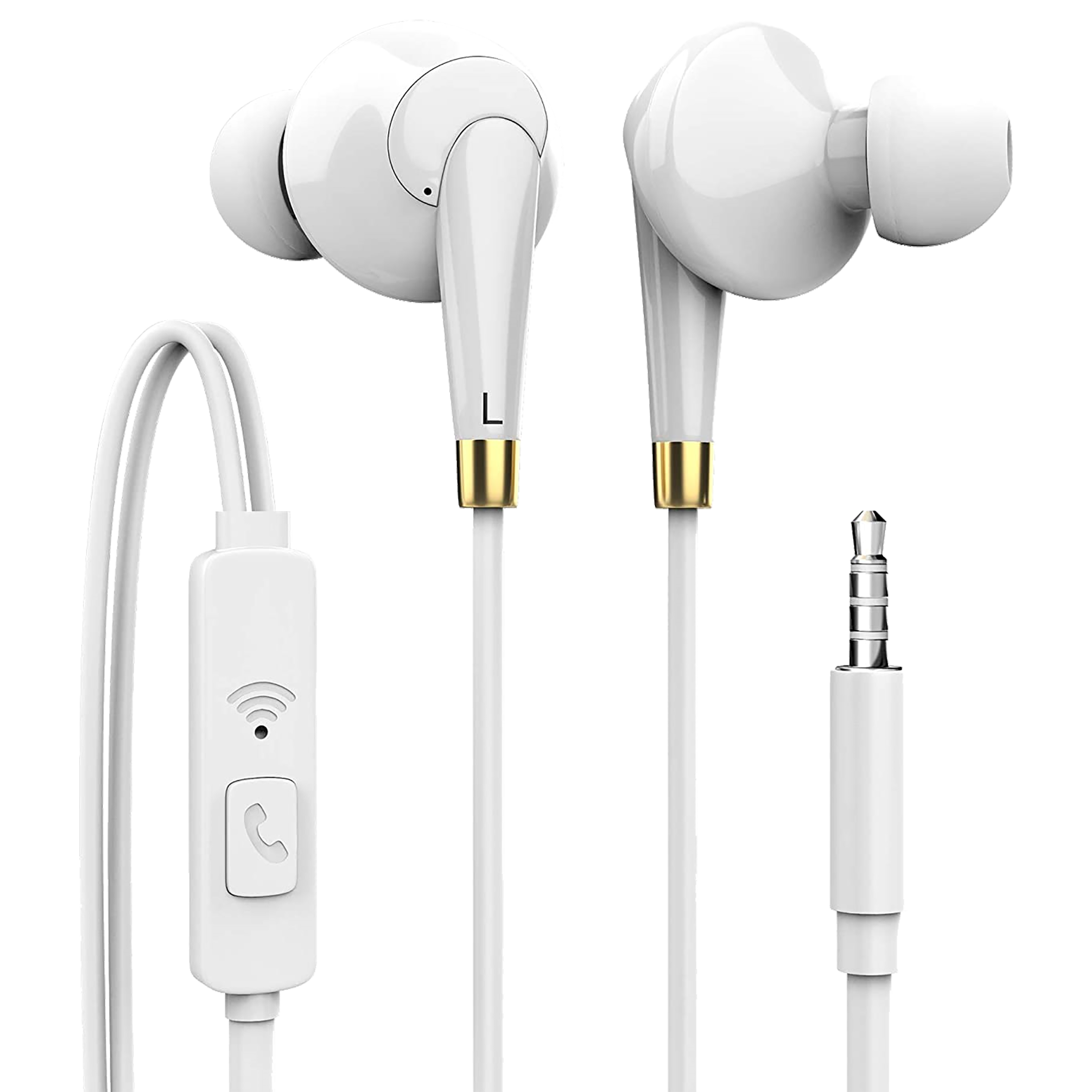 Tyoon In-Ear Active Noise Cancellation Wired Earphone with Mic (3.5 mm Audio Jack, EP105, White)_1