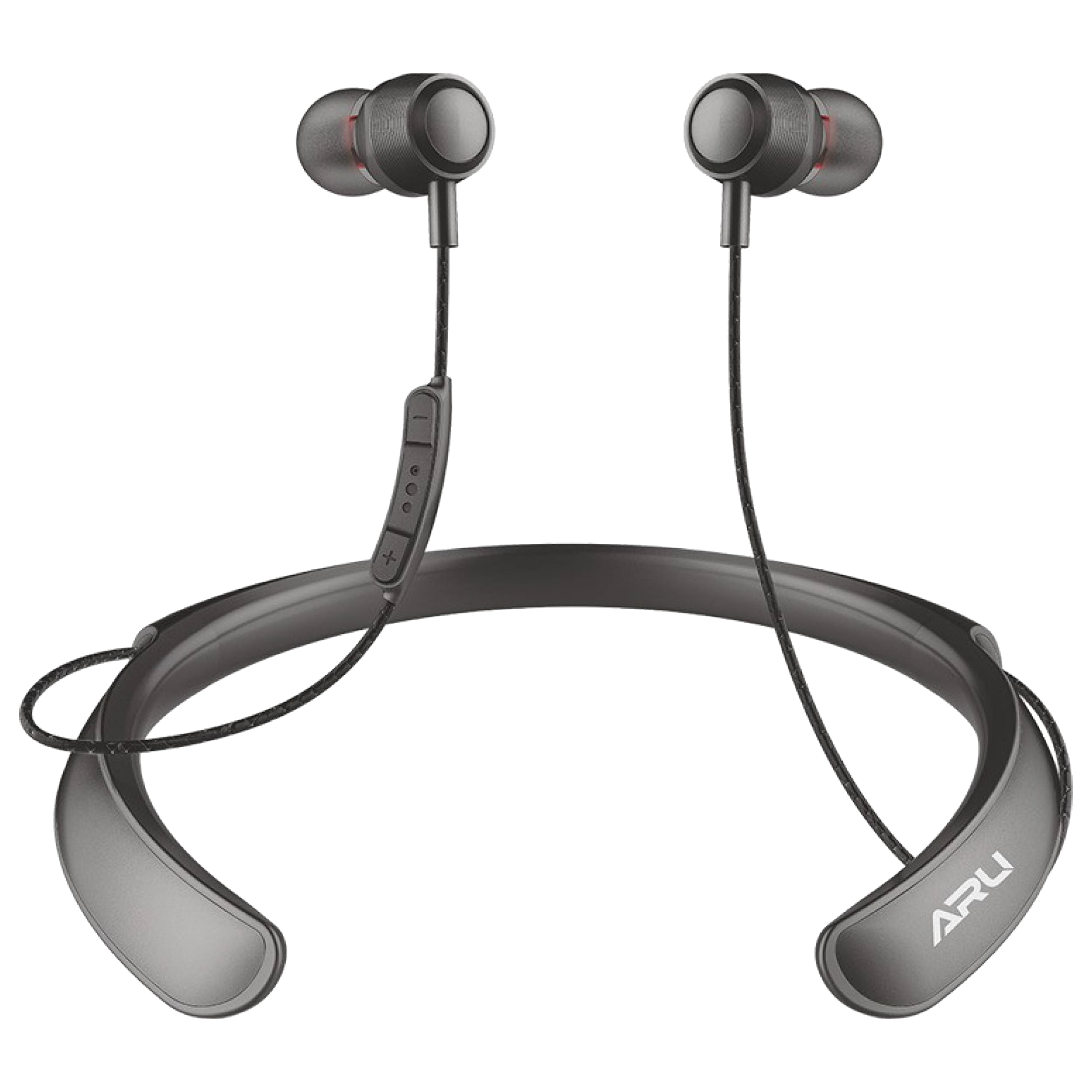 ARU In-Ear Active Noise Cancellation Wireless Earphone with Mic (Bluetooth 5.0, Water Resistant, ANB-1117, Black)_1