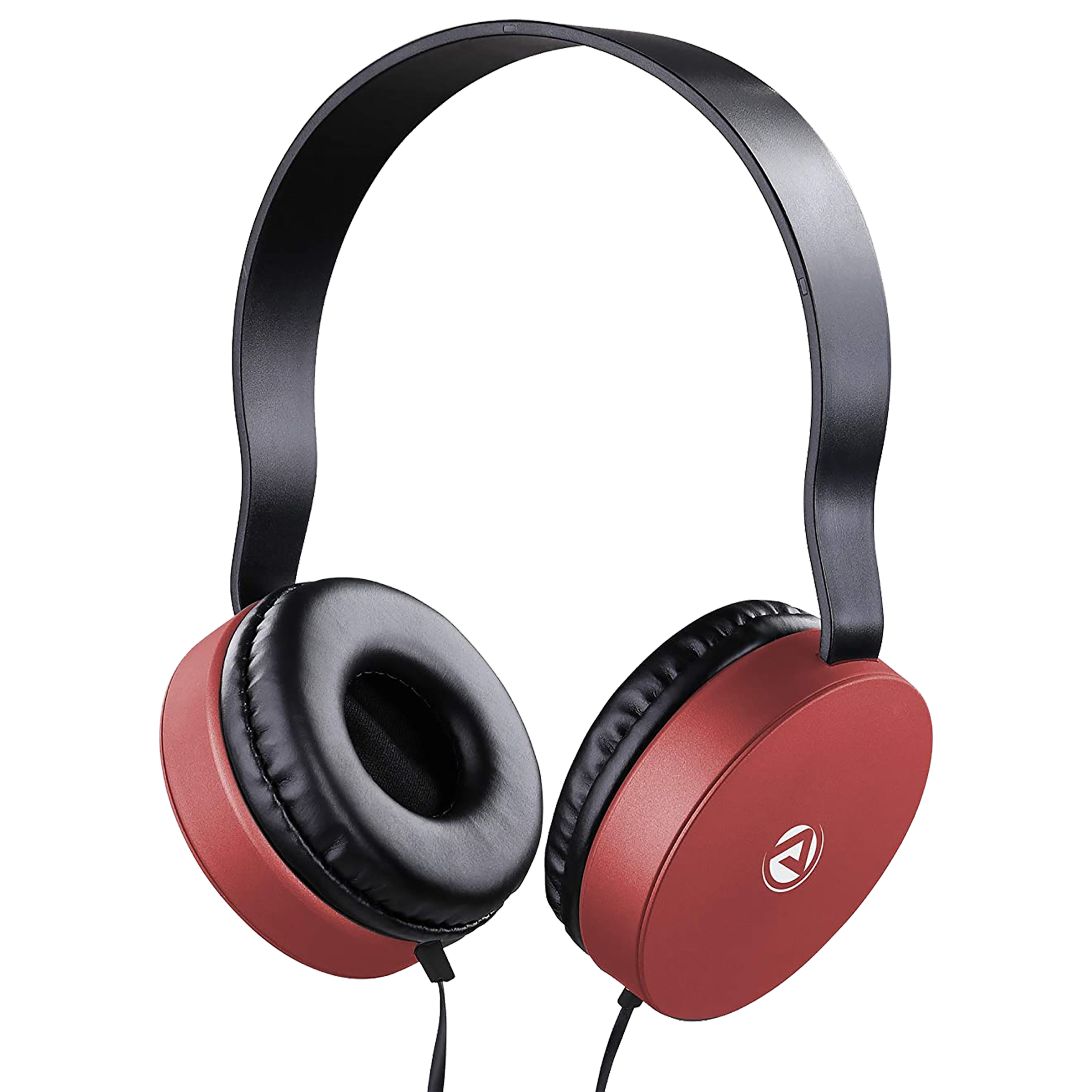 ARU On-Ear Wired Headphone with Mic (ARU Signature Sound, AWH-92, Red)_1