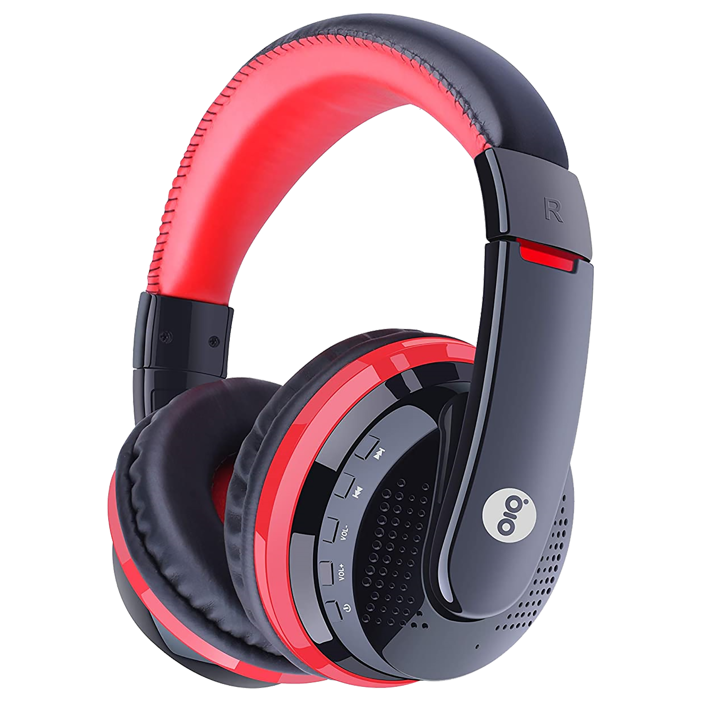 Gizmore Giz Over-Ear Active Noise Cancellation Wireless Headphone with Mic (Bluetooth 5.0, Hi-Fi Stereo Sound, MH411, Red)_1