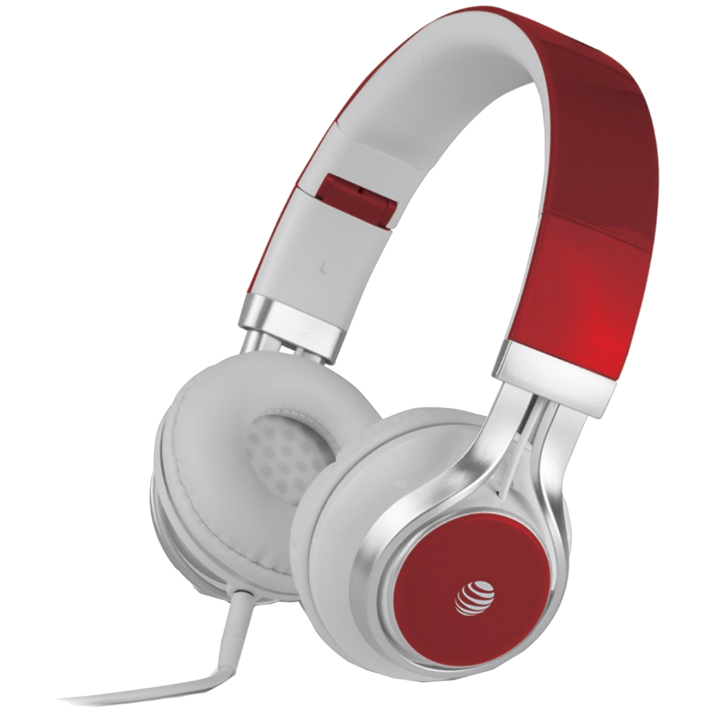 AT&T Over-Ear Noise Isolation Wired Headphone with Mic (Stereo Quality Sound, HPM10-BLU, Red)_1