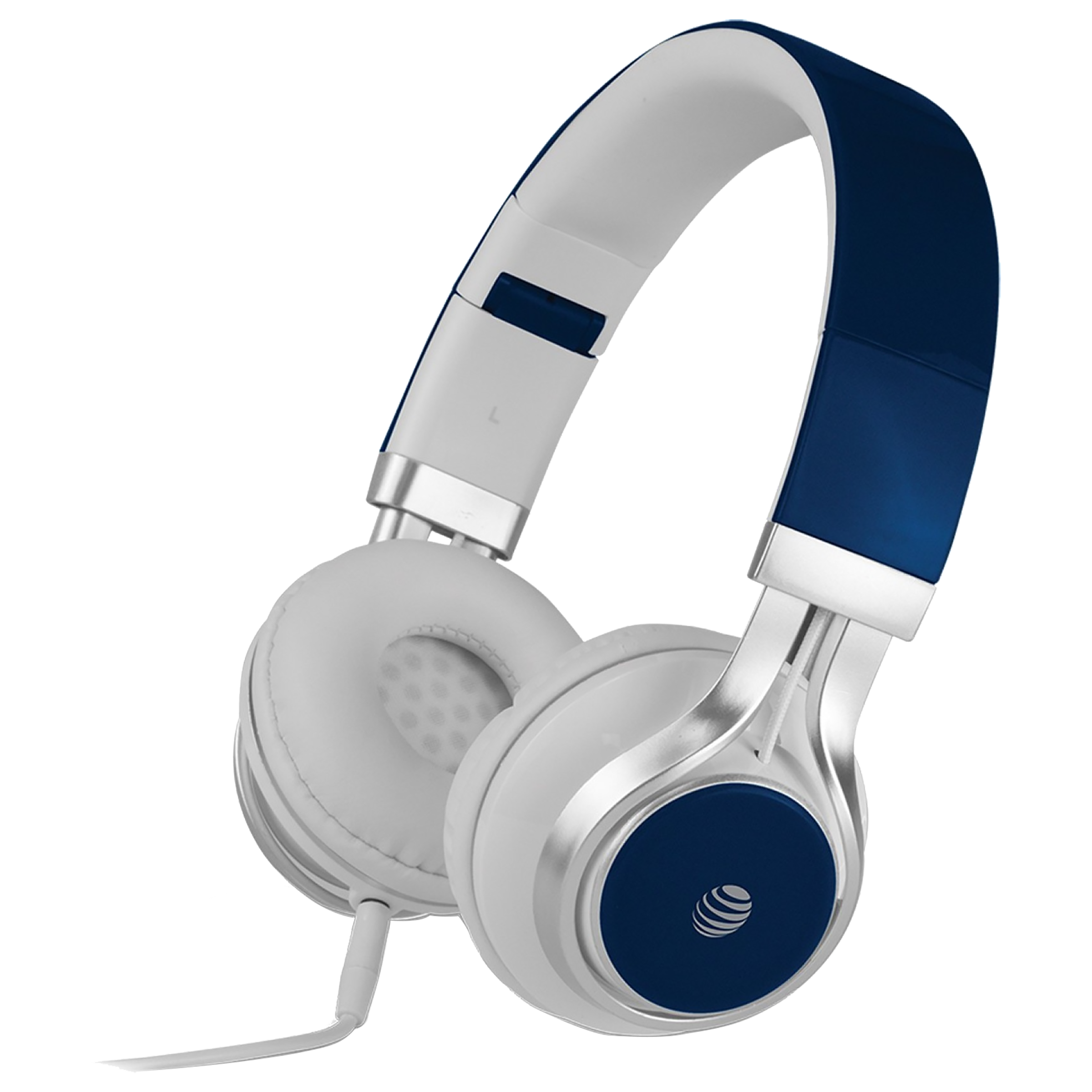 AT&T Over-Ear Noise Isolation Wired Headphone with Mic (Gold Plated 3.5 mm Jack, HPM10-BLU, Blue)_1