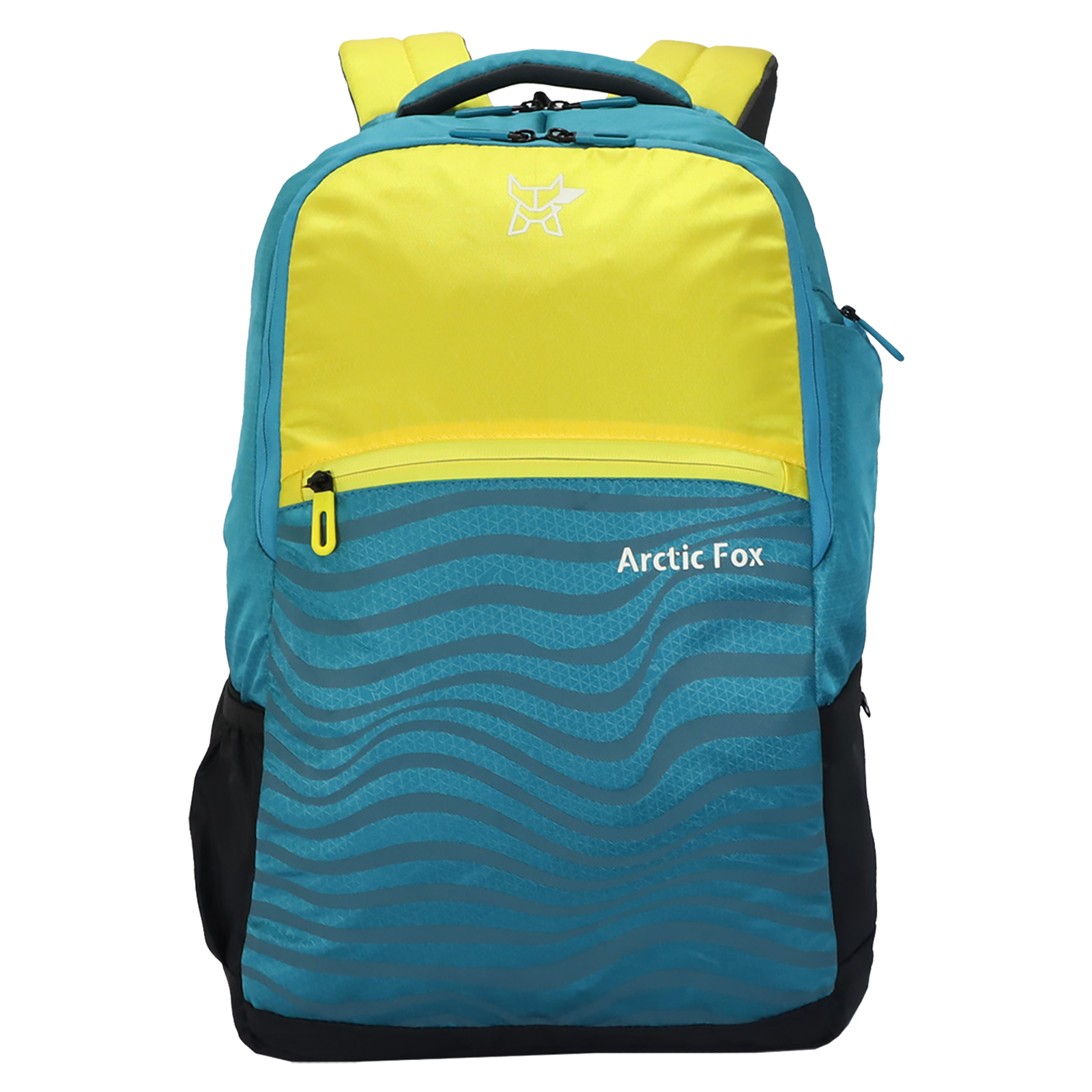 Arctic Fox Drift 32 Litres PU Coated Polyester Backpack (2 Spacious Compartments, FTEBPKVYLON065032, Vibrant Yellow)_1