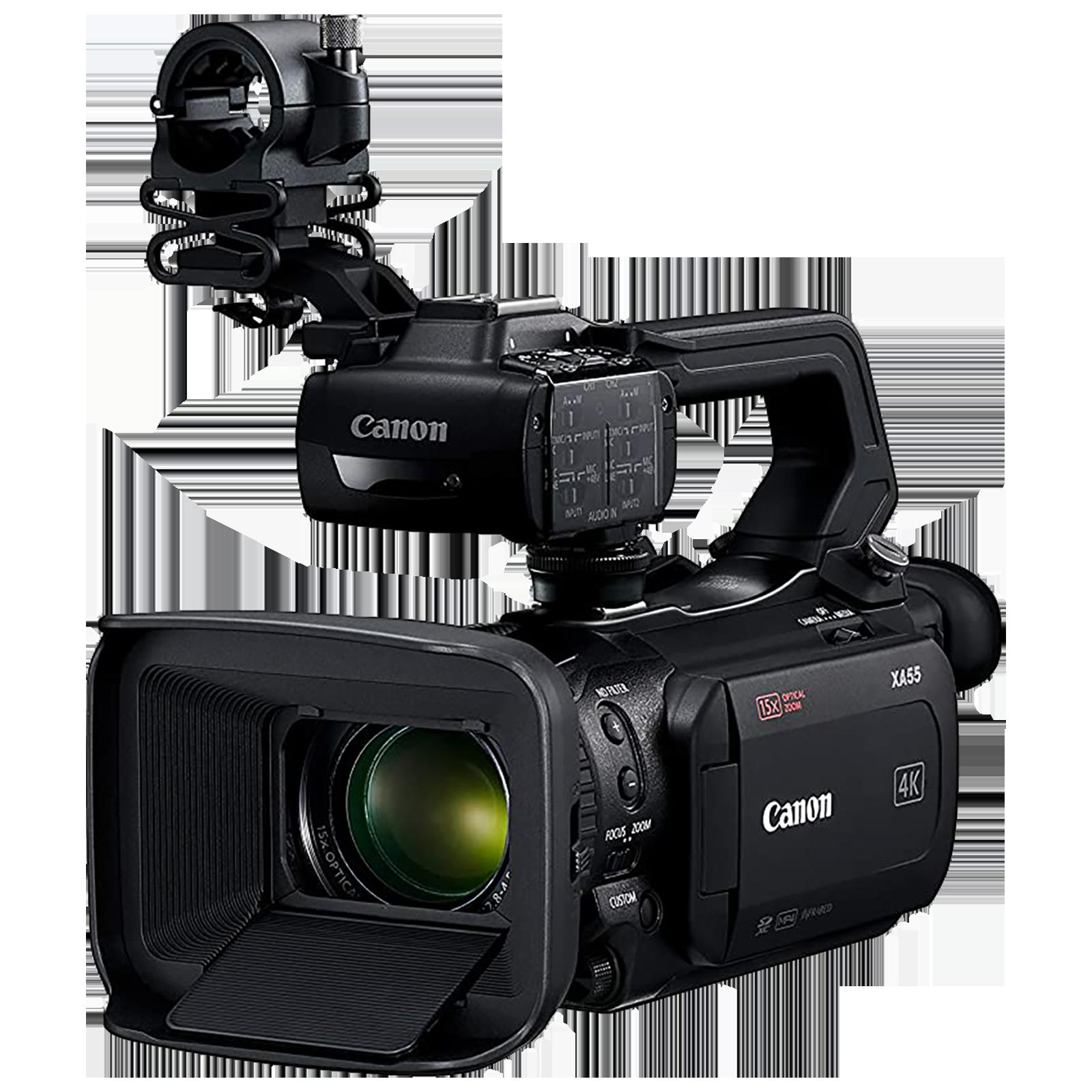 Canon XA55 8.29 MP Camcorder (15x Optical Zoom, 5-axis Optical Image Stabilization, 3668C003-C02, Black)_1