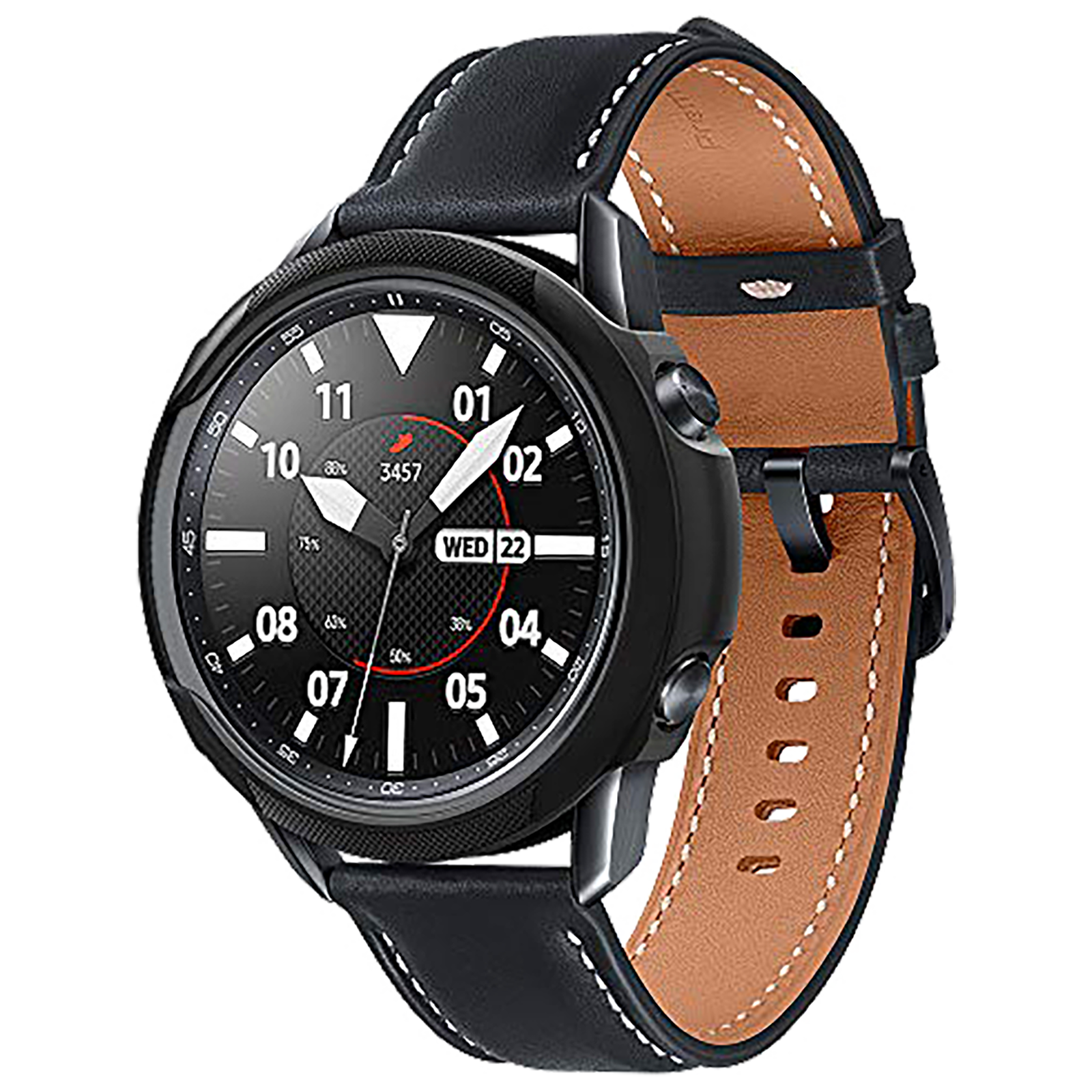 Spigen Liquid Air Case For Samsung Galaxy Watch (45mm) (Raised Edges For Added Protection, ACS01560, Matte Black)_1
