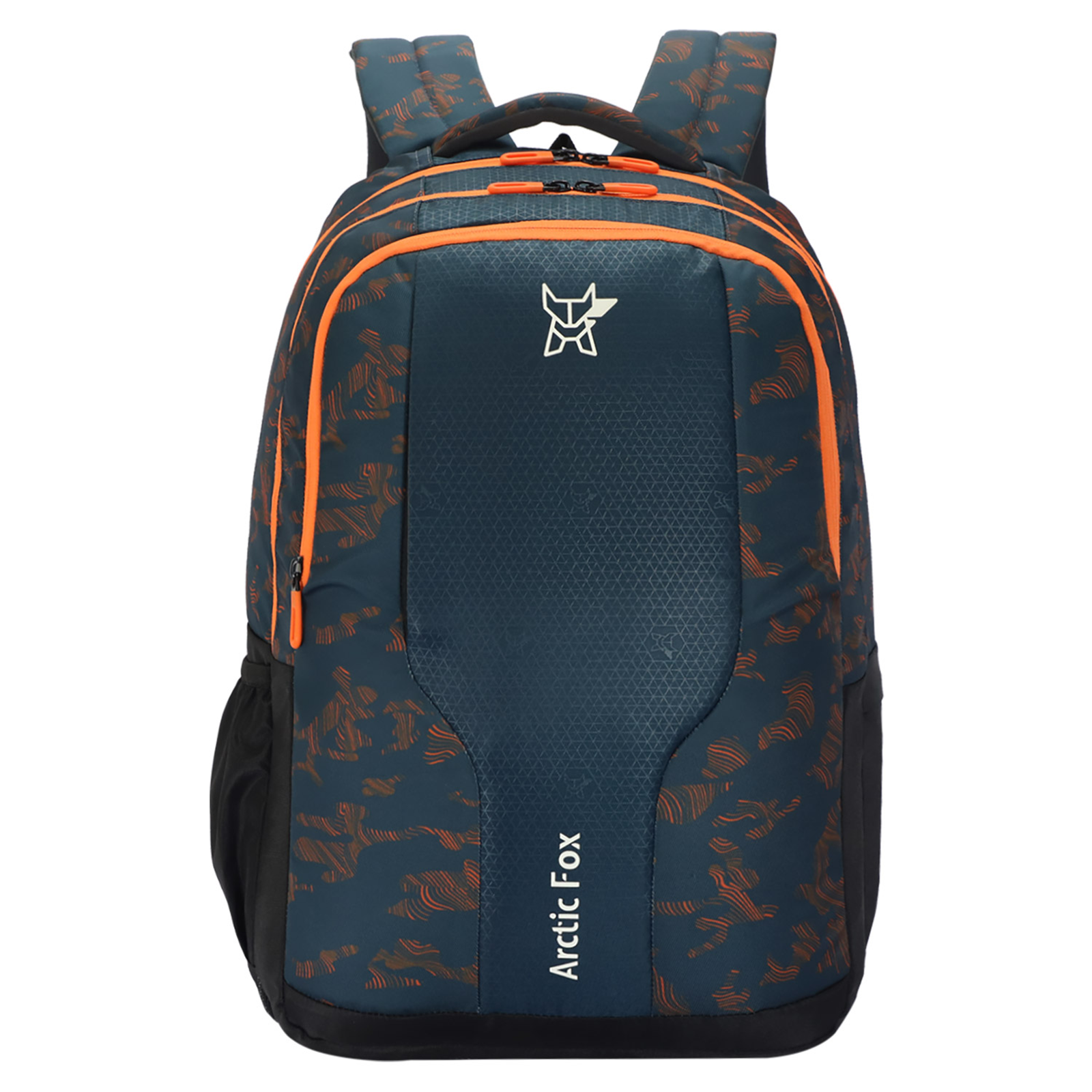 Arctic Fox Tribe 37 Litres PU Coated Polyester Backpack (3 Spacious Compartments, FTEBPKRORON073037, Red Orange)_1