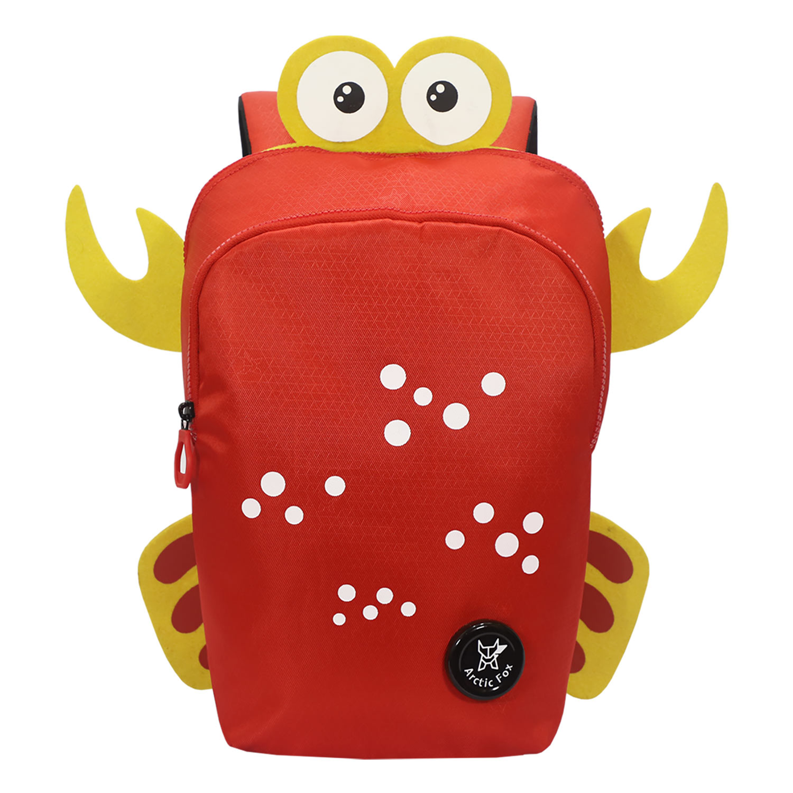 Arctic Fox Crab 10 Litres PU Coated Polyester Backpack (2 Spacious Compartments, FMIBPKFIRWZ060010, Fiery Red)_1