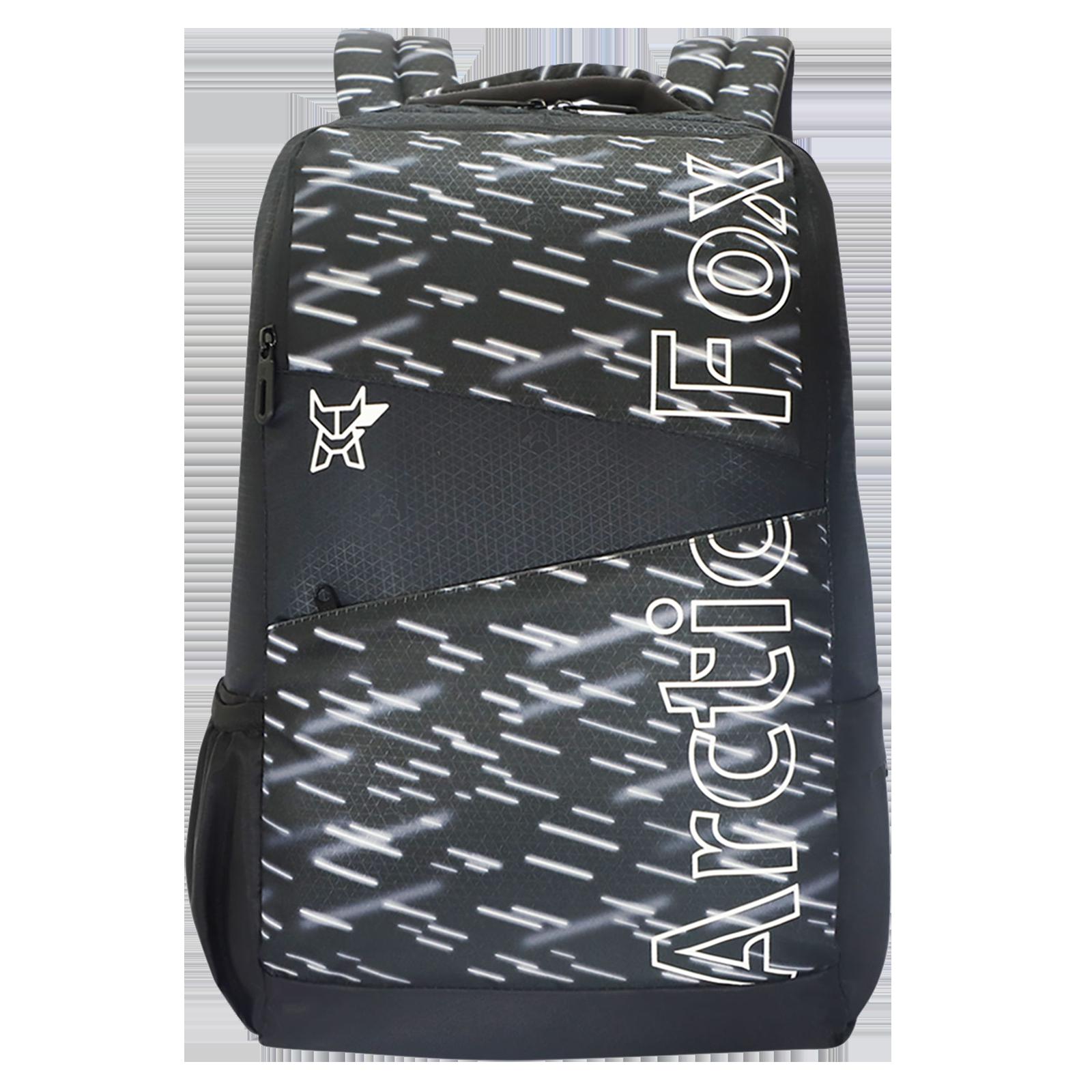 Arctic Fox Metrolite 32.5 Litres PU Coated Polyester Backpack (2 Spacious Compartments, FTEBPKJTBON079033, Jet Black)_1