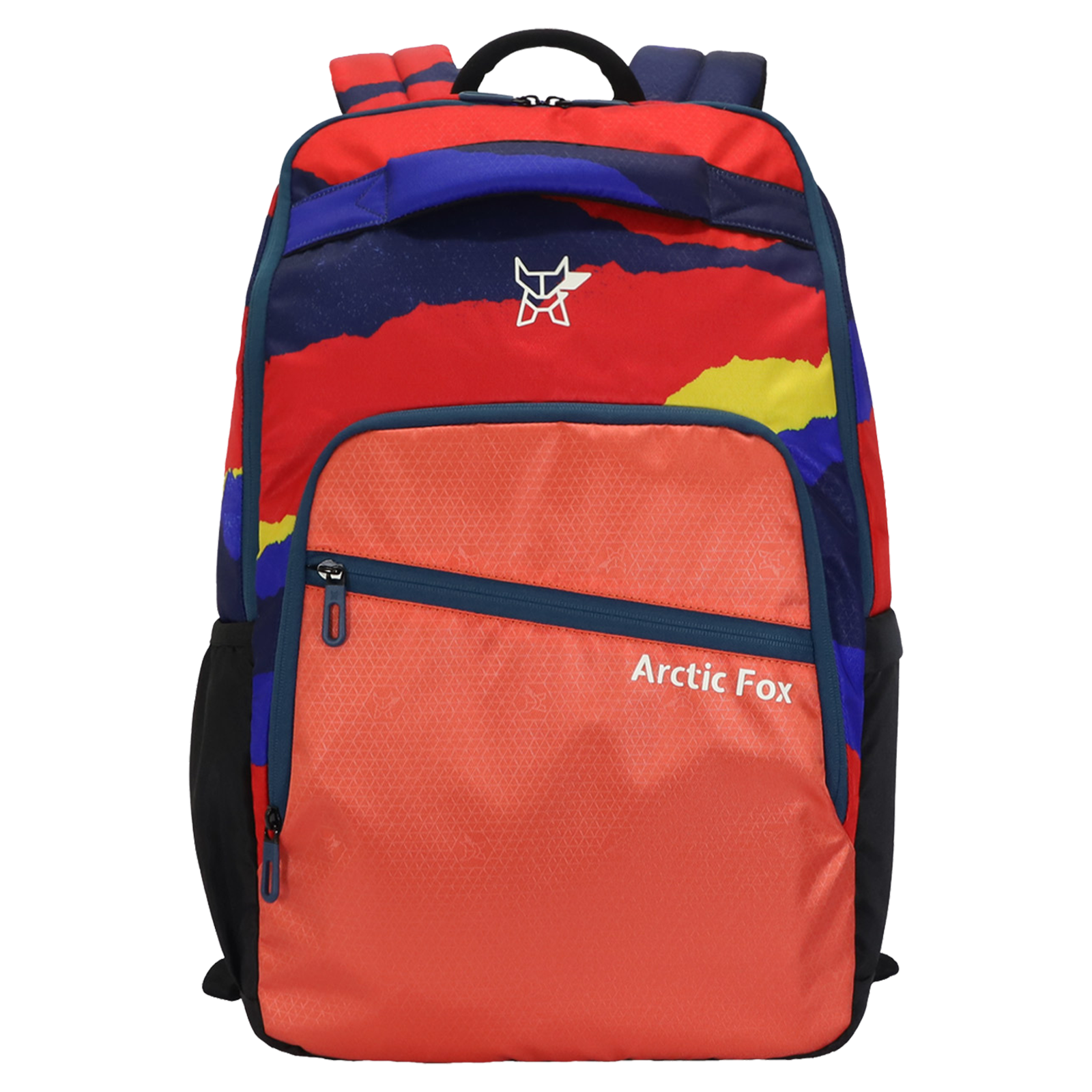 Arctic Fox Color Paper 23.5 Litres PU Coated Polyester Backpack (2 Spacious Compartments, FUNBPKHCRON088024, Hot Coral)_1