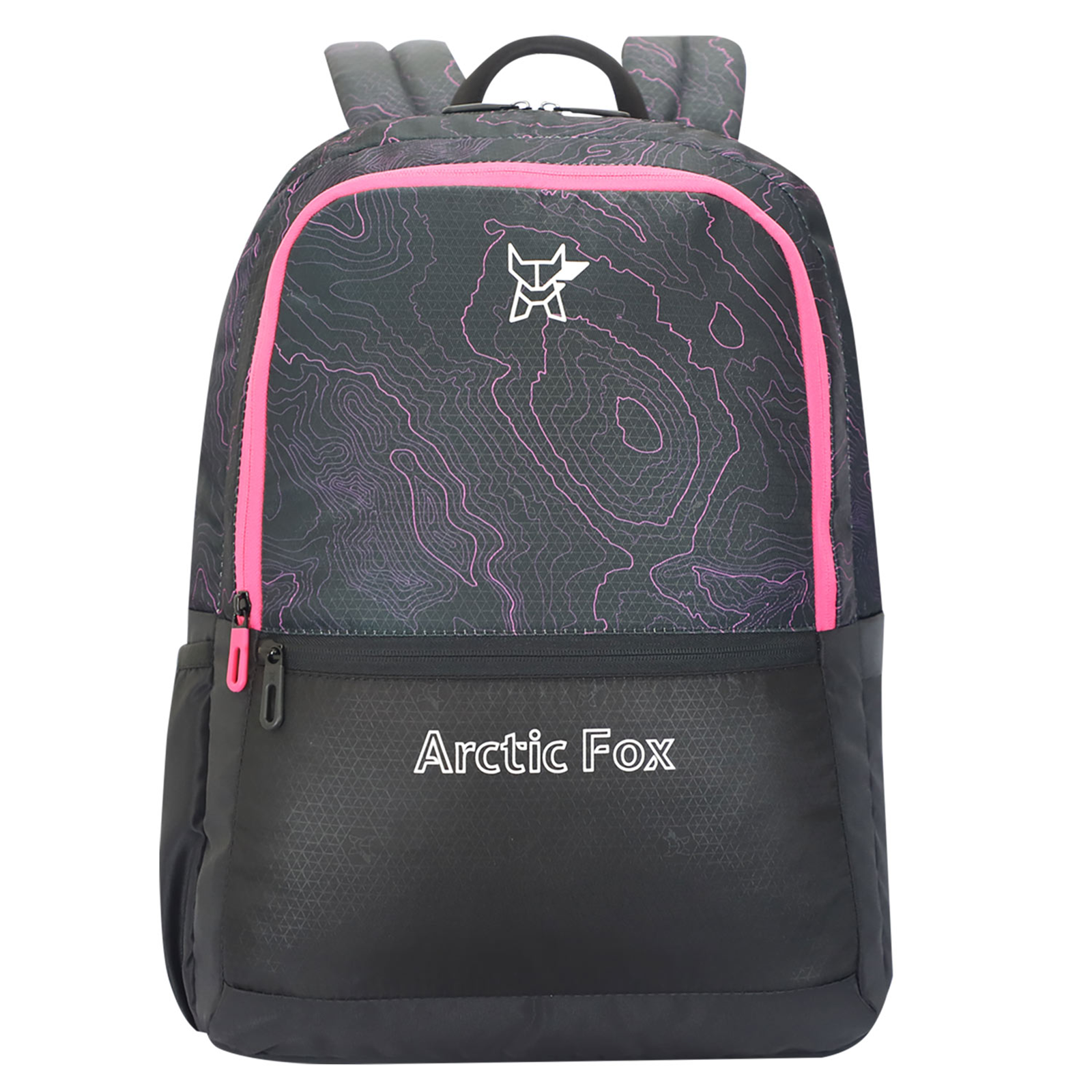 Arctic Fox Topograph 29.5 Litres PU Coated Polyester Backpack (2 Spacious Compartments, FTEBPKPINON083030, Pink)_1