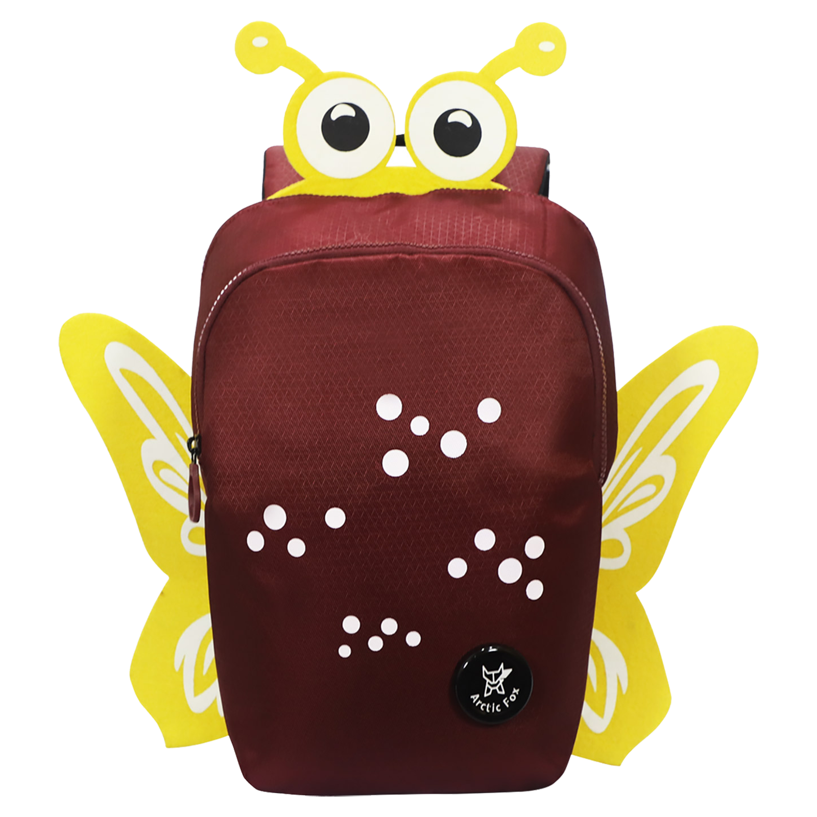 Arctic Fox Butterfly 10 Litres PU Coated Polyester Backpack (2 Spacious Compartments, FMIBPKTPOWZ062010, Tawny Port)_1