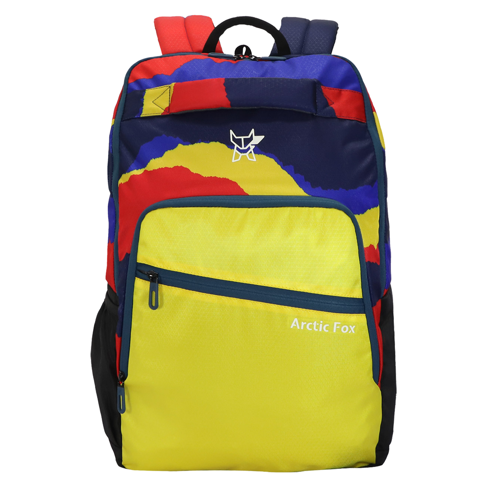 Arctic Fox Color Paper 23.5 Litres PU Coated Polyester Backpack (Smart Organizer, FUNBPKVYLON090024, Yellow)_1