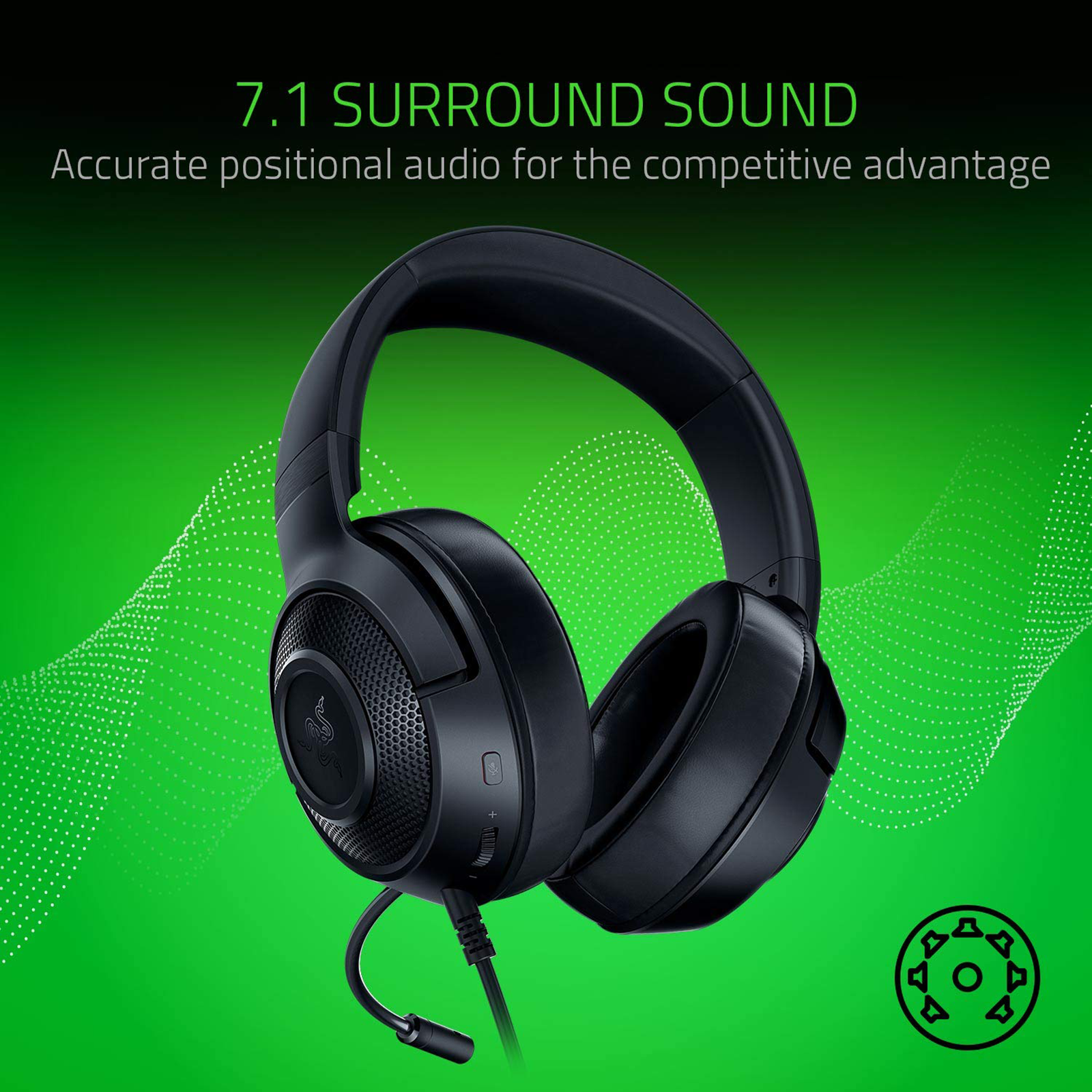 Razer Kraken Over-Ear Wired Gaming Headset with Mic (Clear & Powerful Sound, RZ04-02830100-R3M1, Black)_3