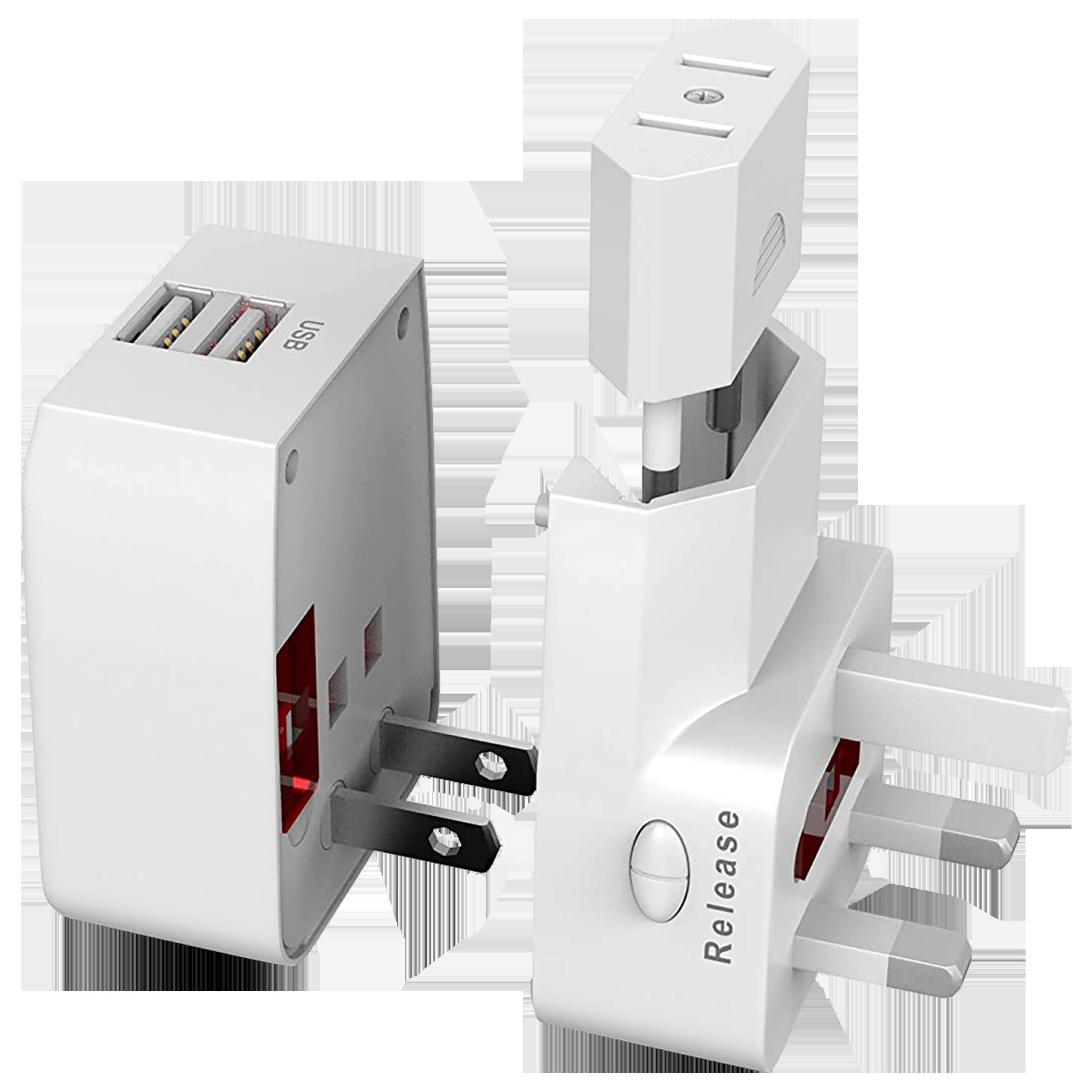 Trovo Plug Pack Lite 3 Plugs Adapter (Dual USB Ports, TTA-11, White)_4