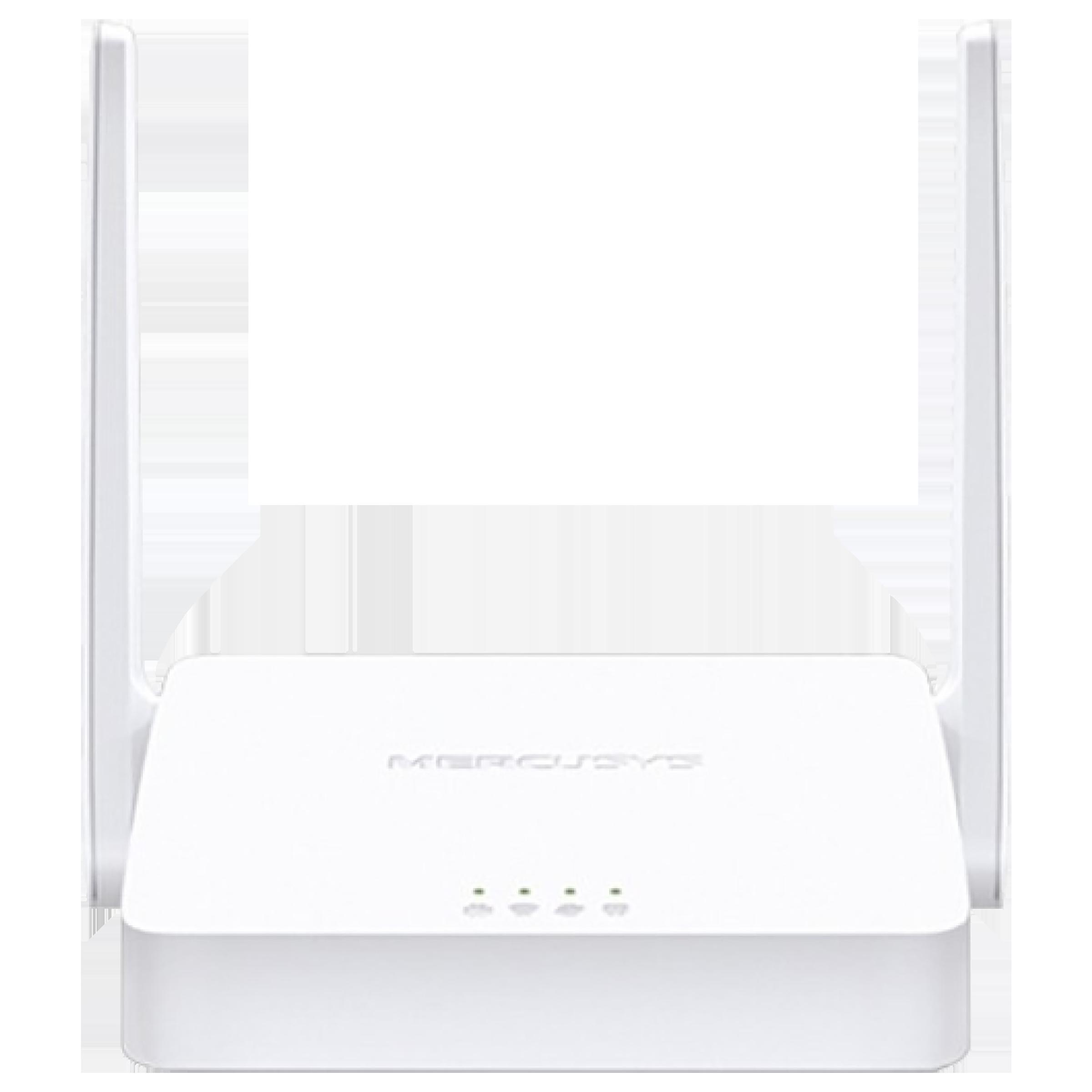 Mercusys MW302R-M 300 MbpsWiFi Router (2 Antennas, 2 LAN Ports, White)