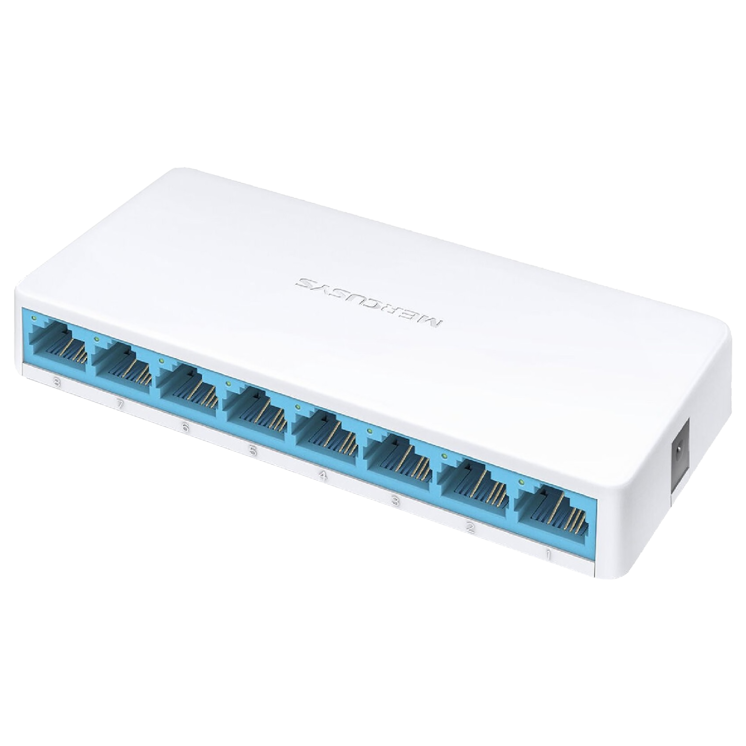 MERCUSYS MS108 8 Ports Switch/Plug (Easily Wired Network Expansion, White)_1