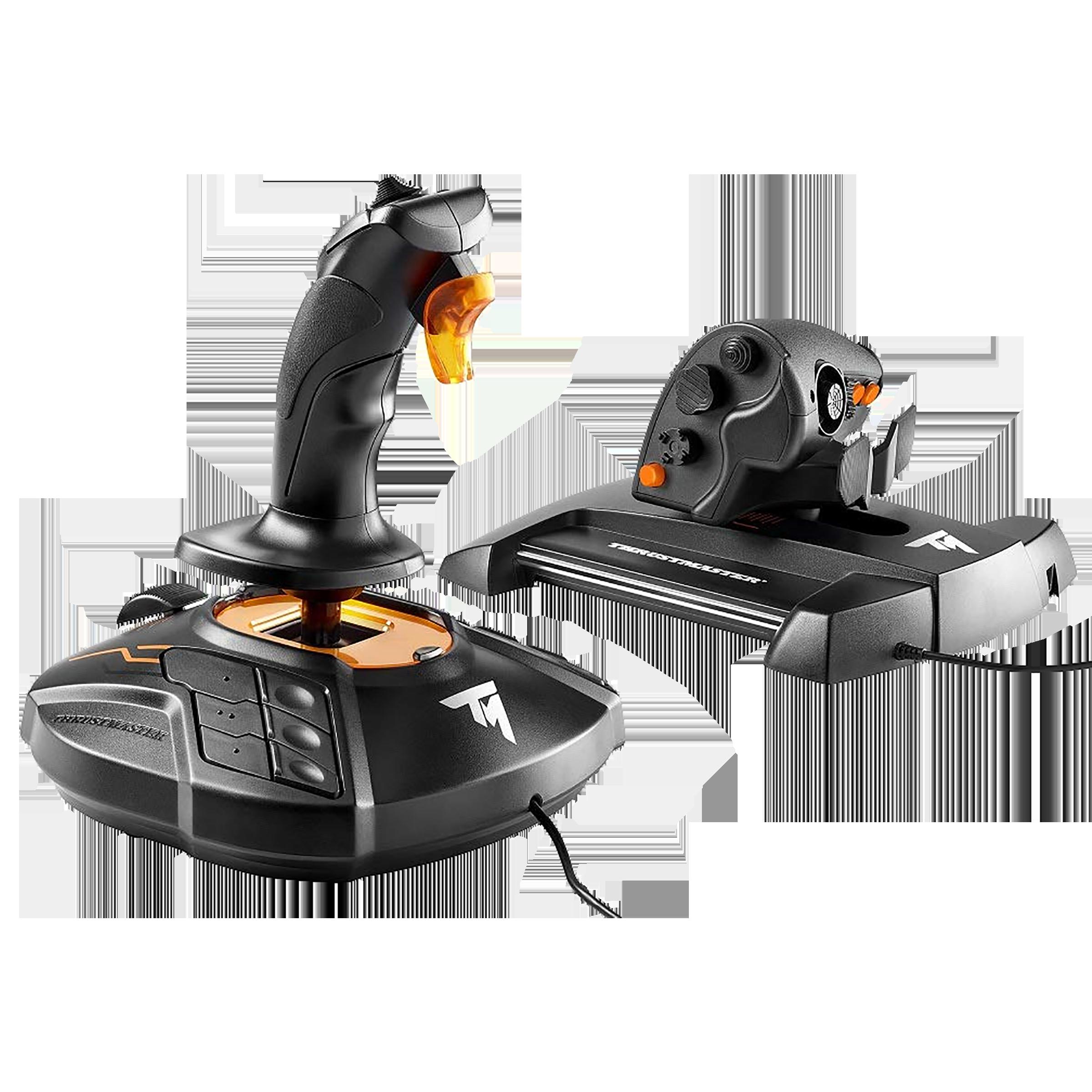 Thrustmaster Joystick For PC (Magnetic Sensors On Stick, T.16000M FCS Hotas, Black/Orange)_1