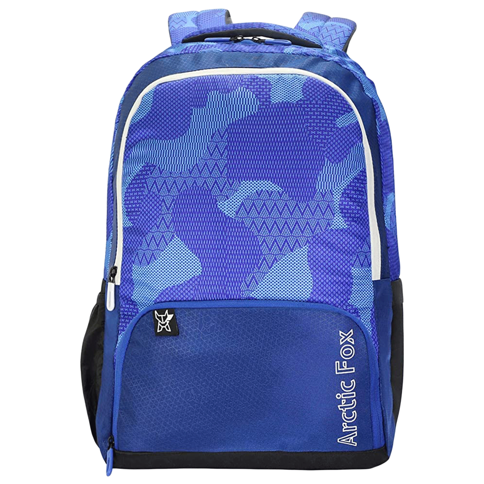 Arctic Fox Collage 32 Litres PU Coated Polyester Laptop Backpack (Smart Organizer, FUNBPKDTBON093032, Blue)_1