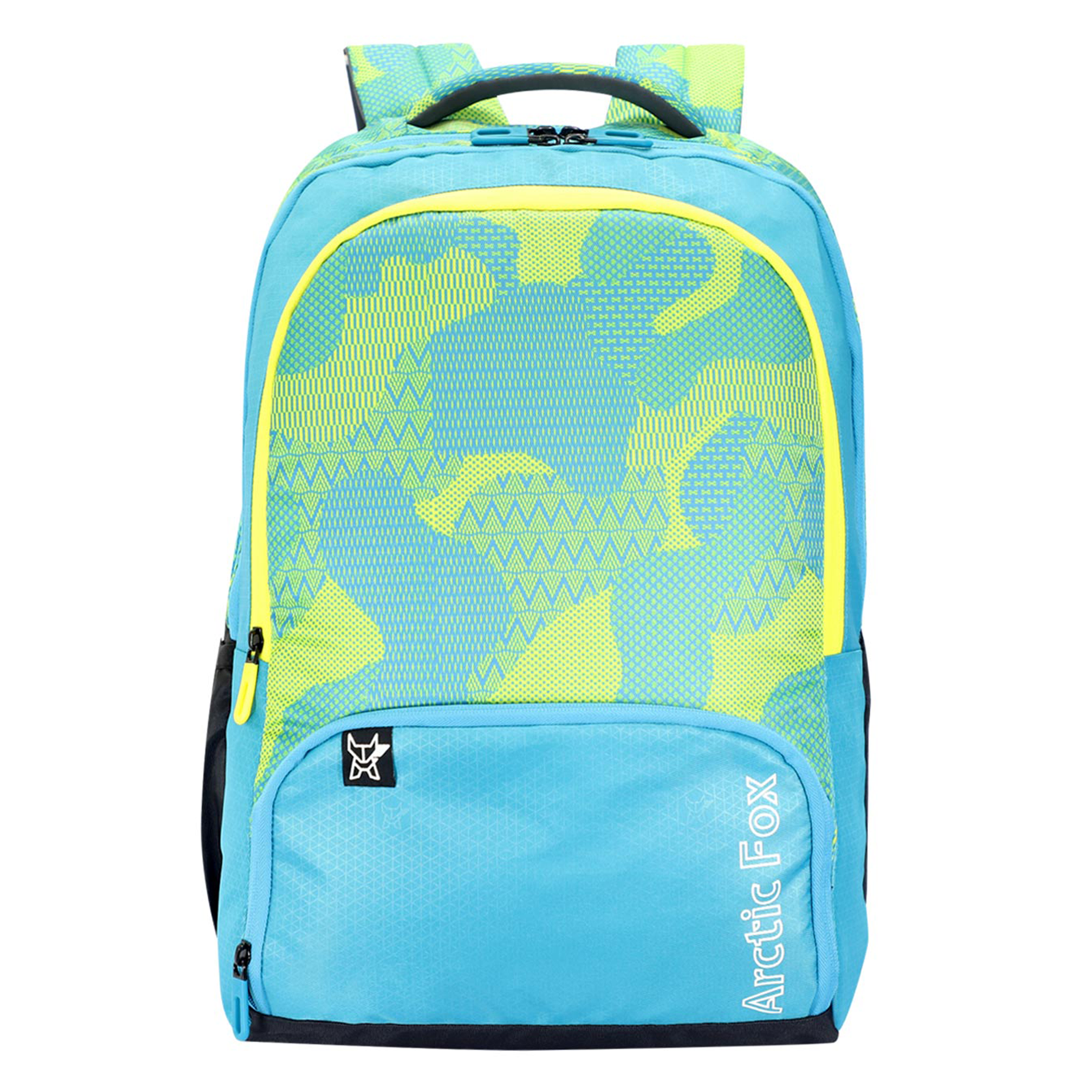 Arctic Fox Collage 32 Litres PU Coated Polyester Laptop Backpack (Smart Organizer, FUNBPKCSEON092032, Caribbean Sea)_1