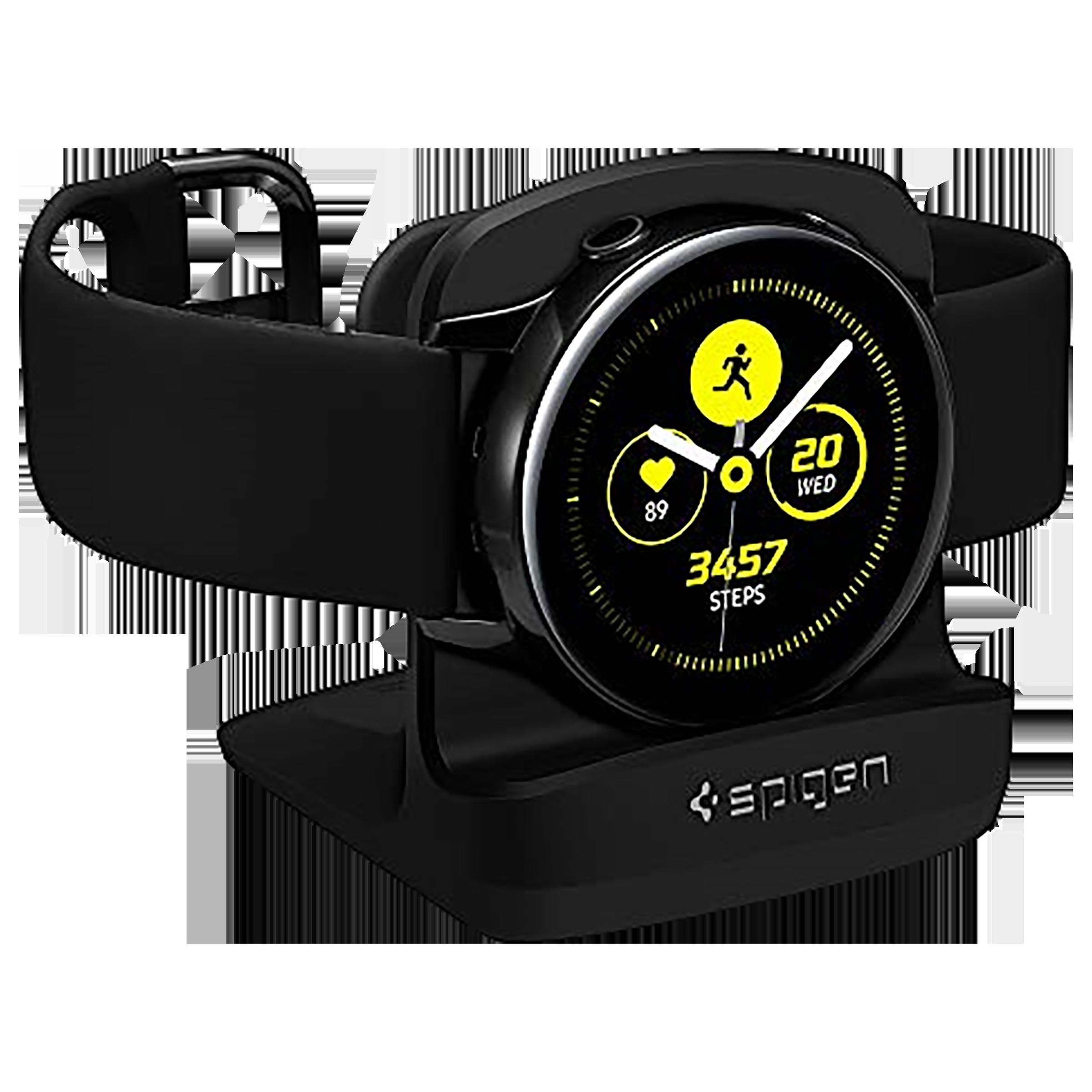 Spigen S351 Night Stand Dock For Samsung Galaxy Watch Active (44mm/40mm) (616MP26284, Black)_1