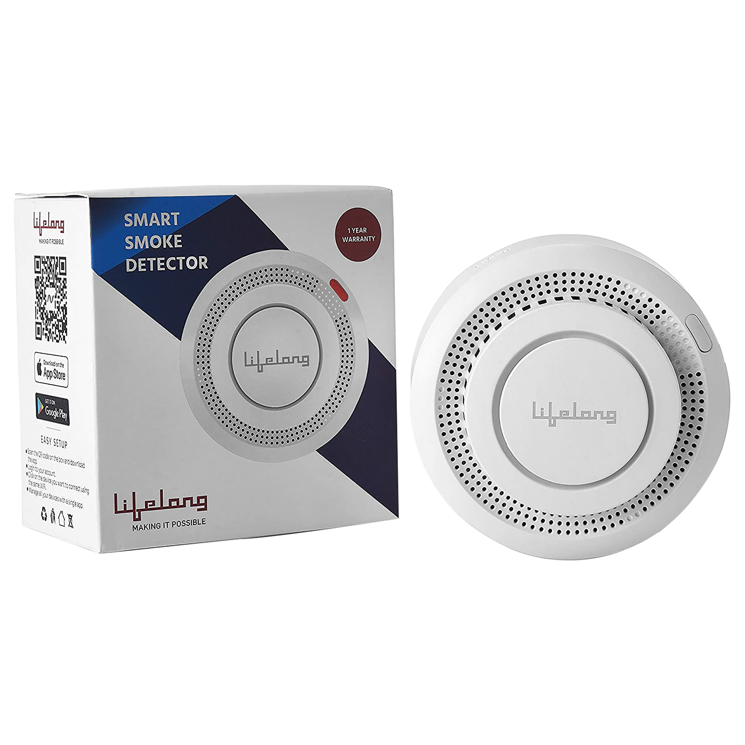 Lifelong Fire Alarm (70 dB, Lifelong Smart Home App, LLDS02, White)_1