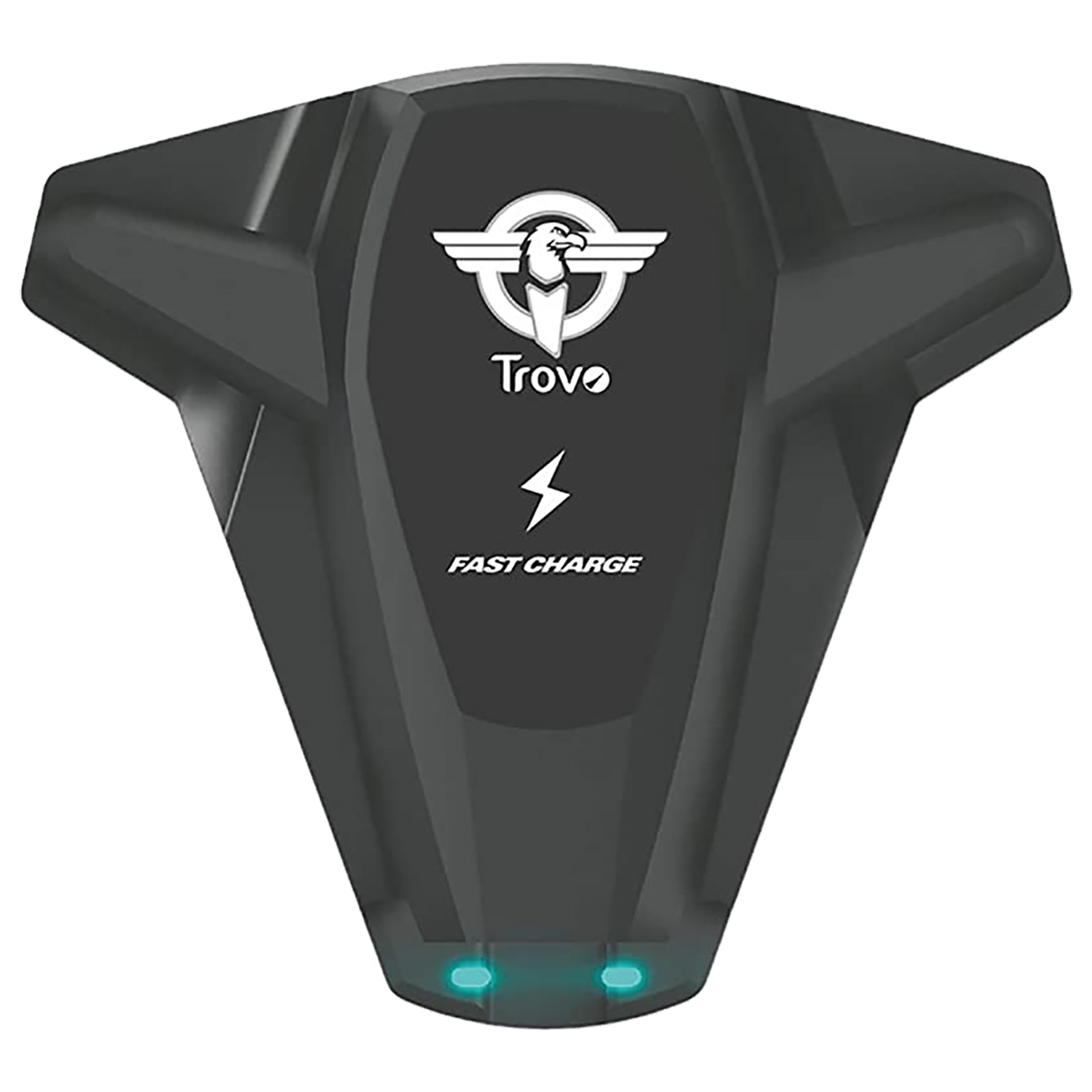 Trovo 10 Watts 2 USB Ports Car Charging Adapter (Portable Palm Size, TWH-101, Black)_1