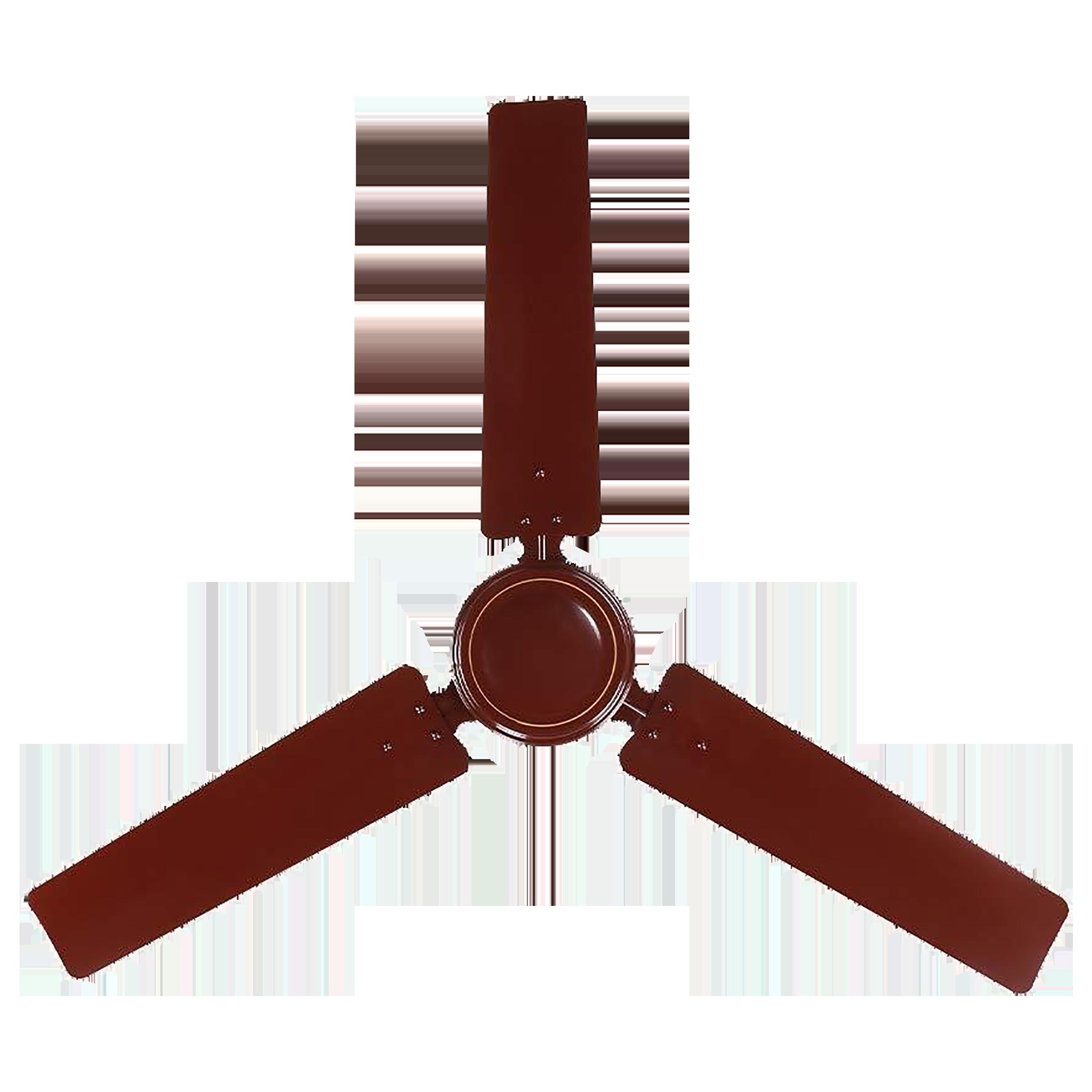 Rico 140 cm Sweep 3 Blade Ceiling Fan (Dust Resistant, CF811, Brown)_1