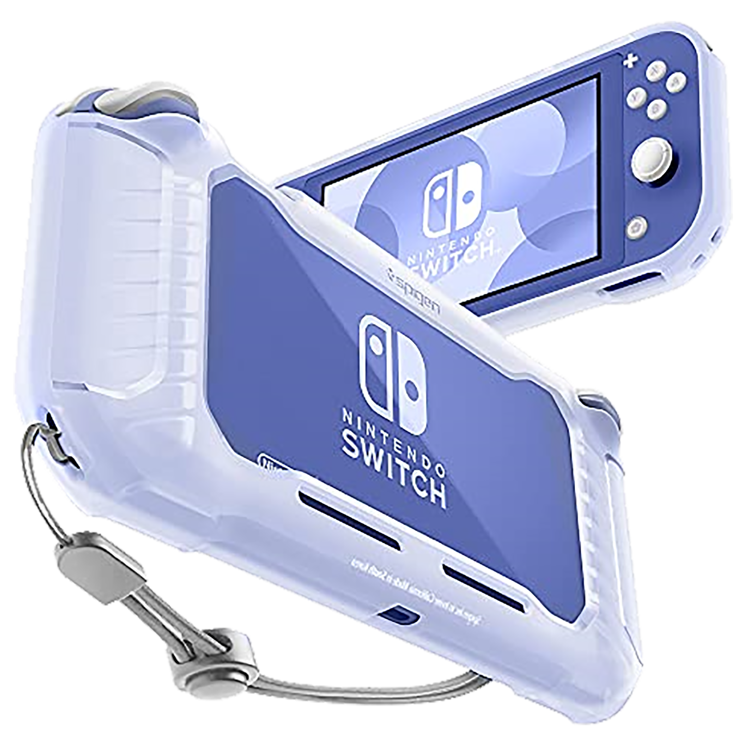 Spigen Rugged Armor Back Case For Nintendo Switch Lite (Raised Bumper Guard, ACS01141, Frost Clear)_1