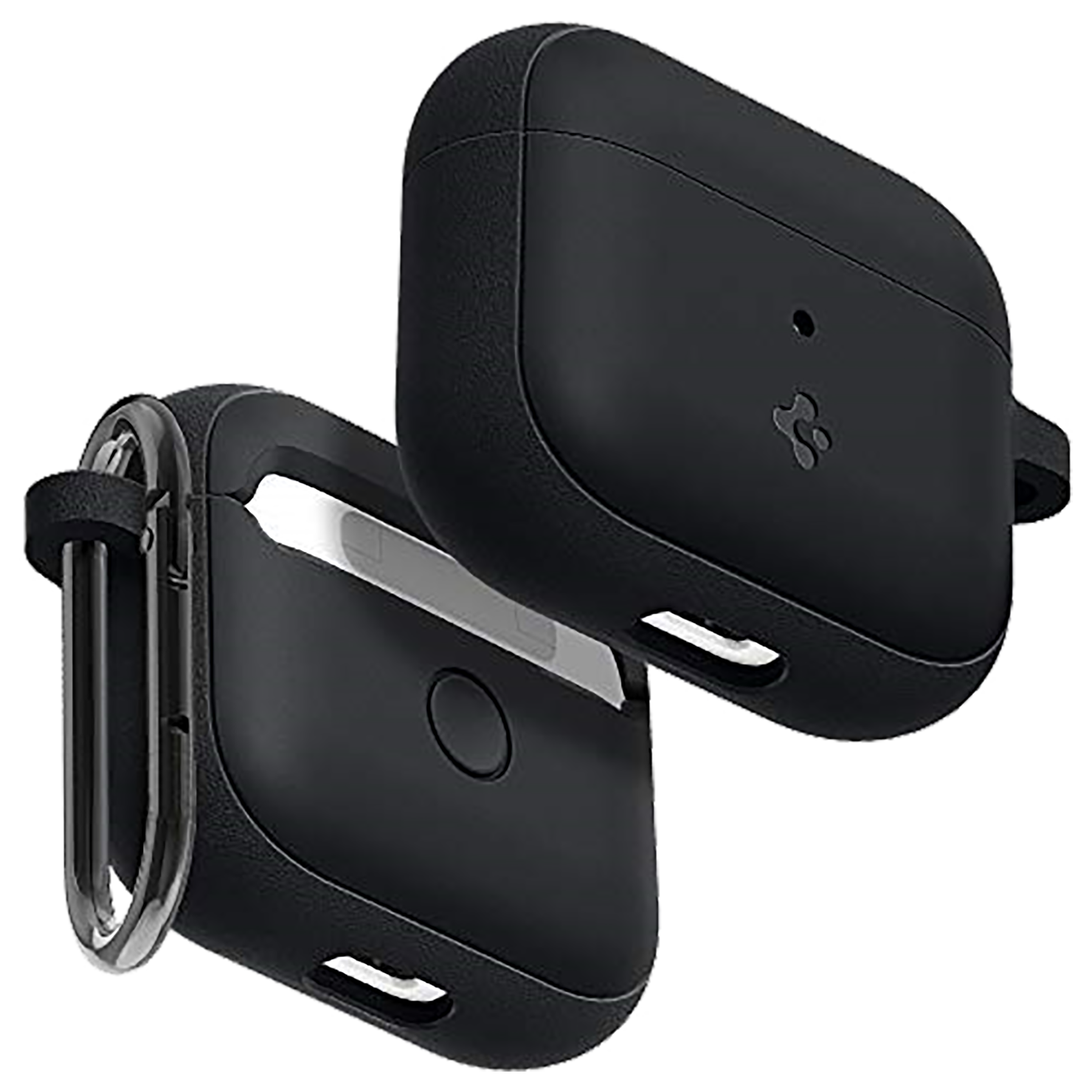 Spigen Silicone Fit Silicone & PC Full Cover Case For Apple Airpods (2020) (Led Light Visible, ASD01984, Black)_1