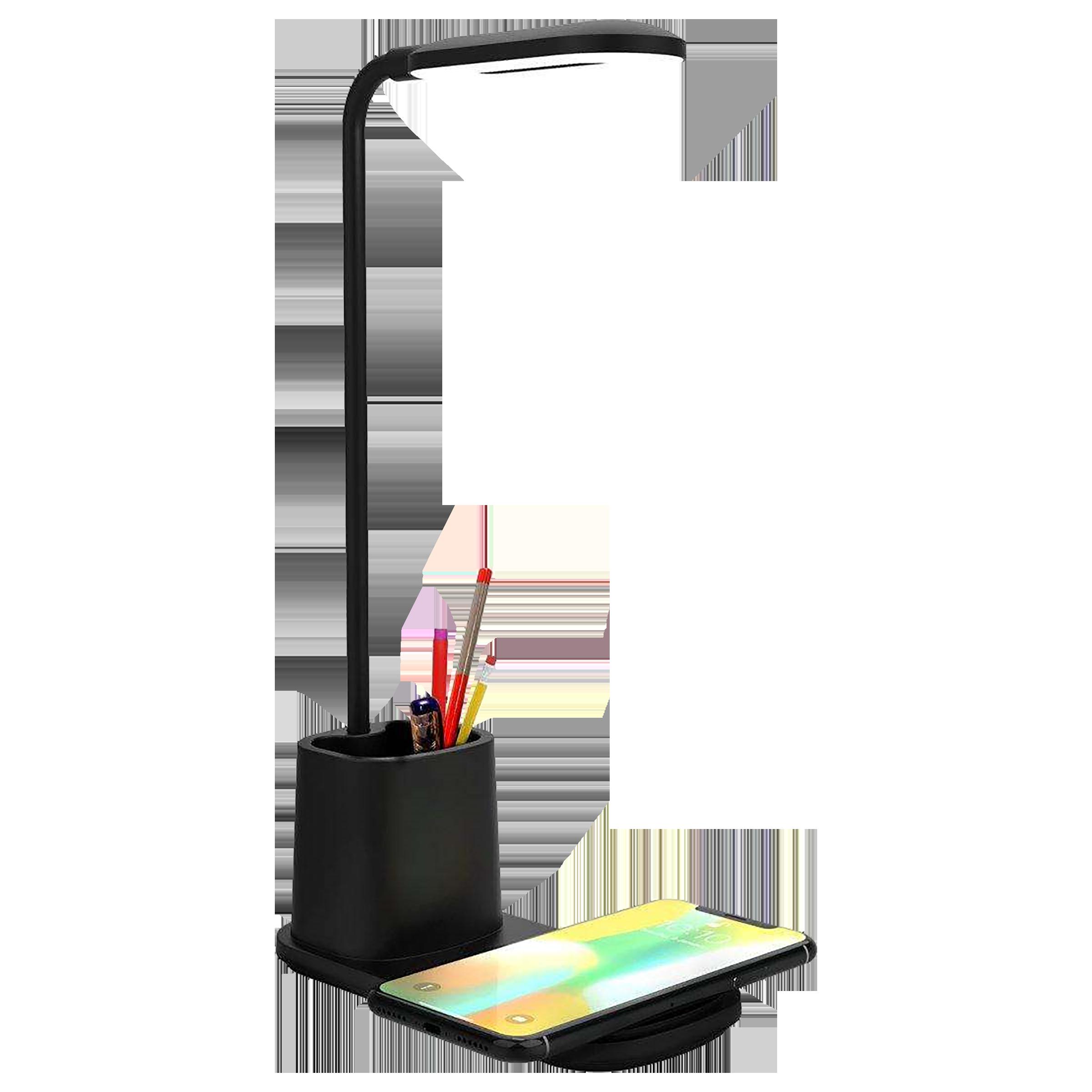 Portronics Brillo II 10 Watts Table Lamp (Wireless Charging, POR 1178, Black)_1
