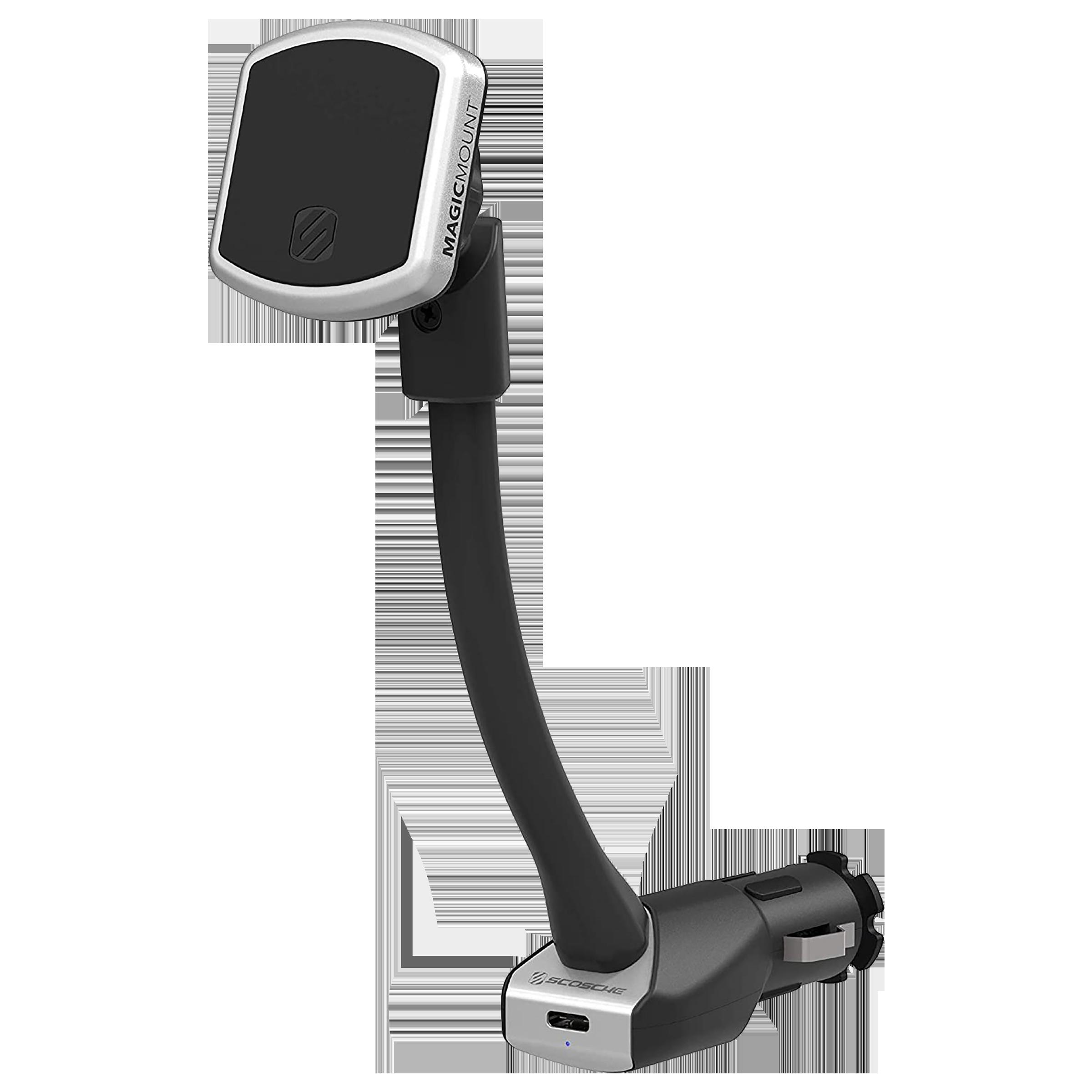 Scosche Dashboard Mobile Holder (Magnetic Mount, MP12VPD1-XTSP, Silver / Black)_1