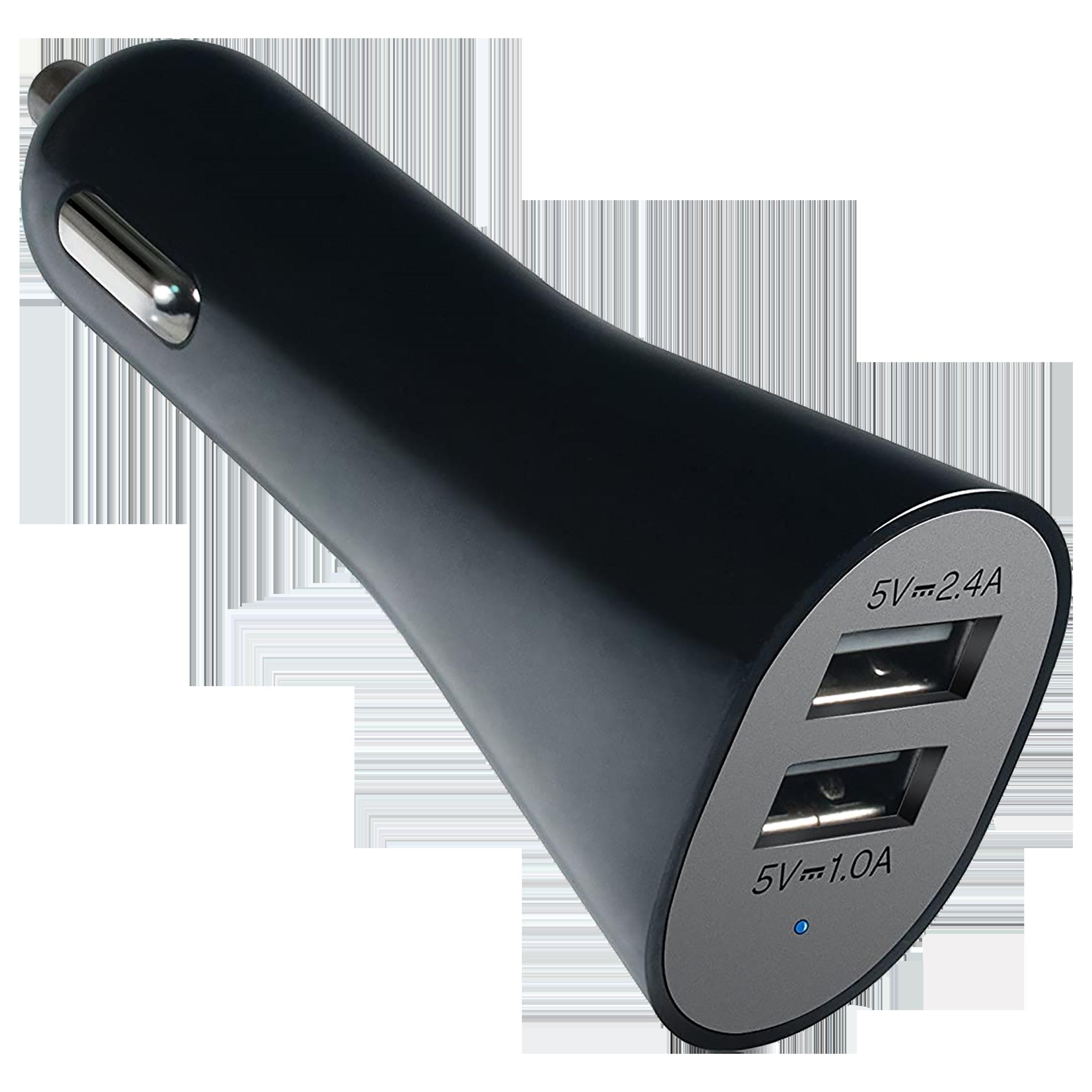 AT&T 2 USB Ports Car Charging Adapter (Led Indicator, CC34-blk, Black)