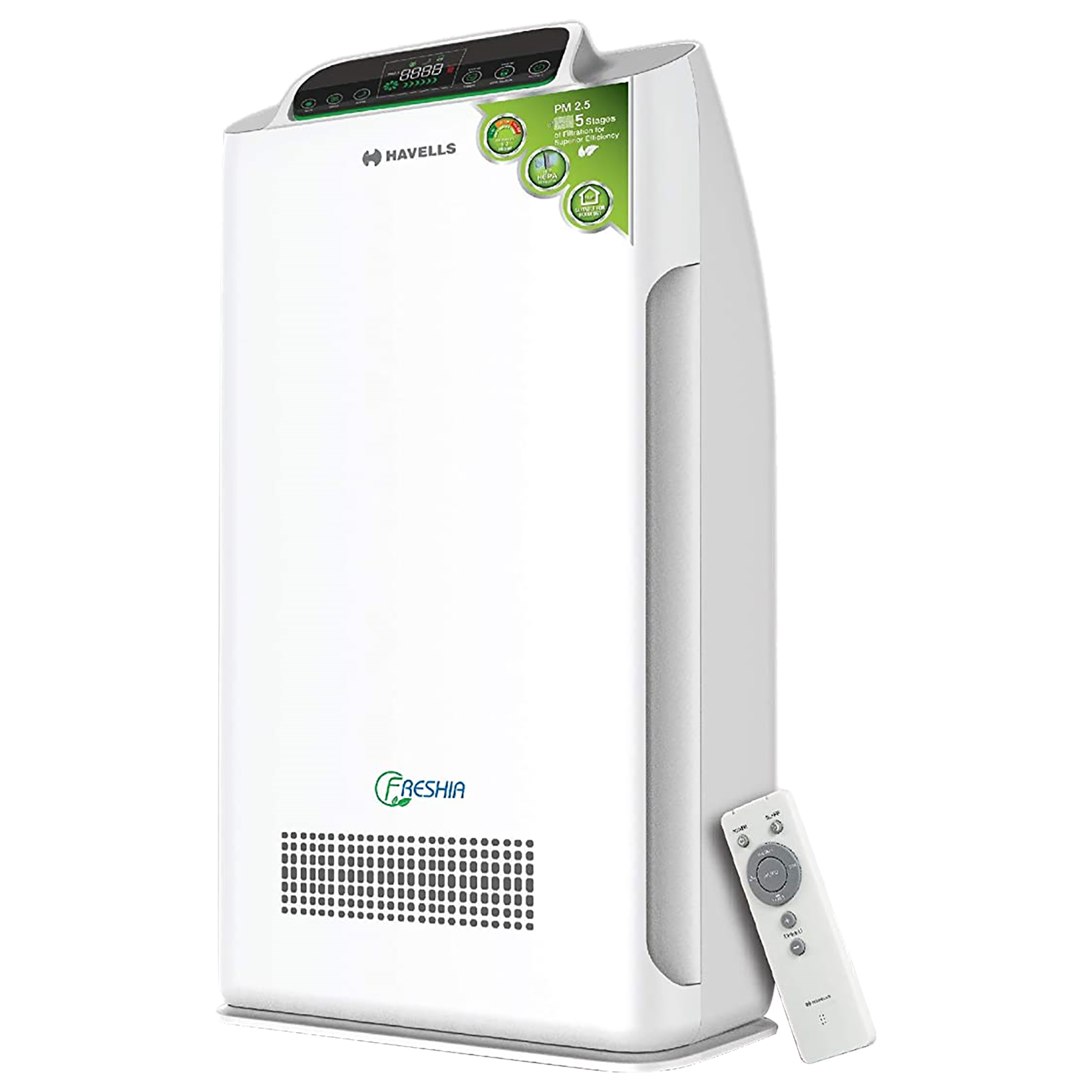 Havells Freshia True HEPA Technology Air Purifier (Unique Safety Controls, AP40, White)_1