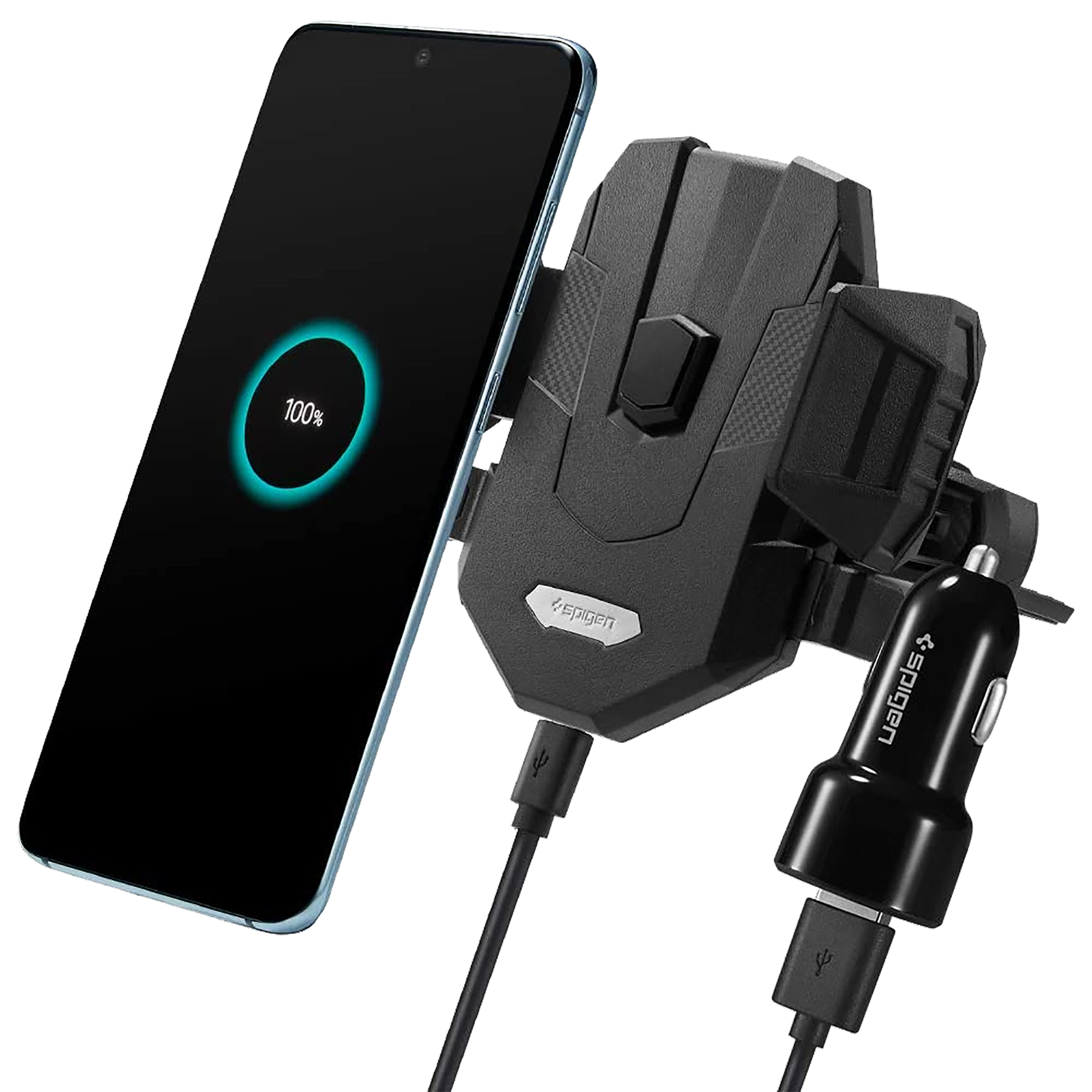 Spigen 7.5 Watts 1 USB Ports Car Charging Adapter (Qi-Enabled, 000CP25520, Black)_1