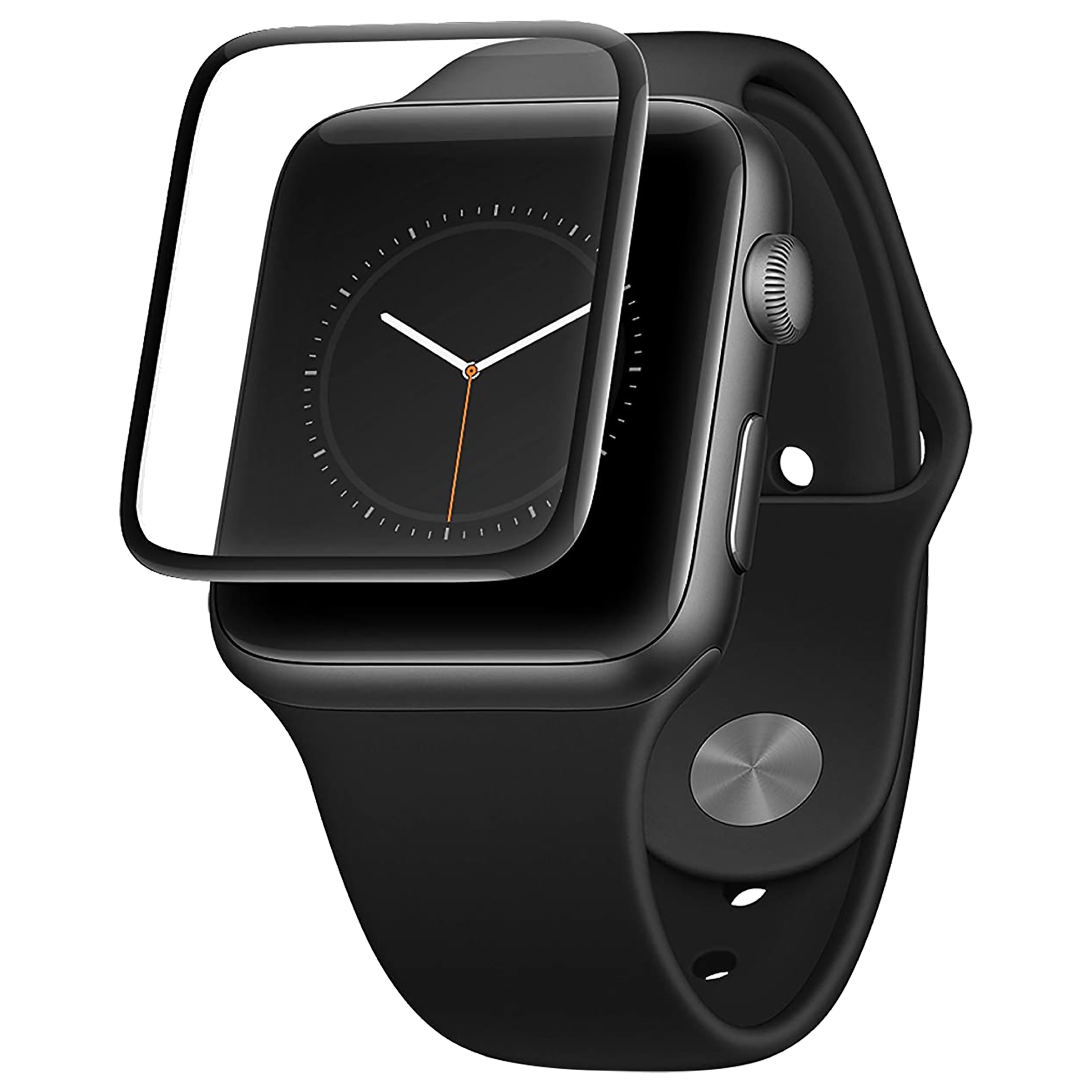 AT&T AWTG-42 Screen Guard For Apple Watch Series 1/2/3 – 42mm (Black)