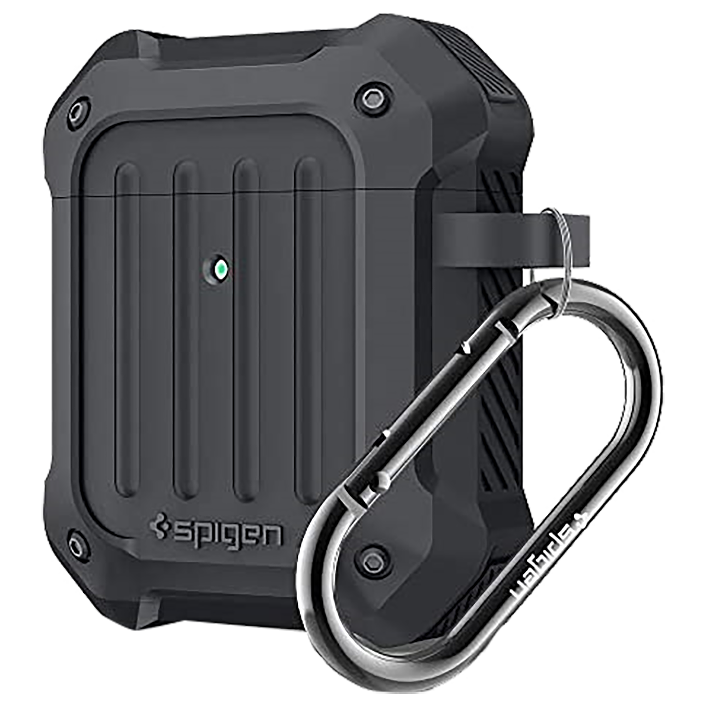 Spigen Tough Armor Silicone Full Cover Case For Apple Airpods 1/Airpods 2 (Rugged Design For Daily Scratch Defense, 074CS26498, Charcoal)_1