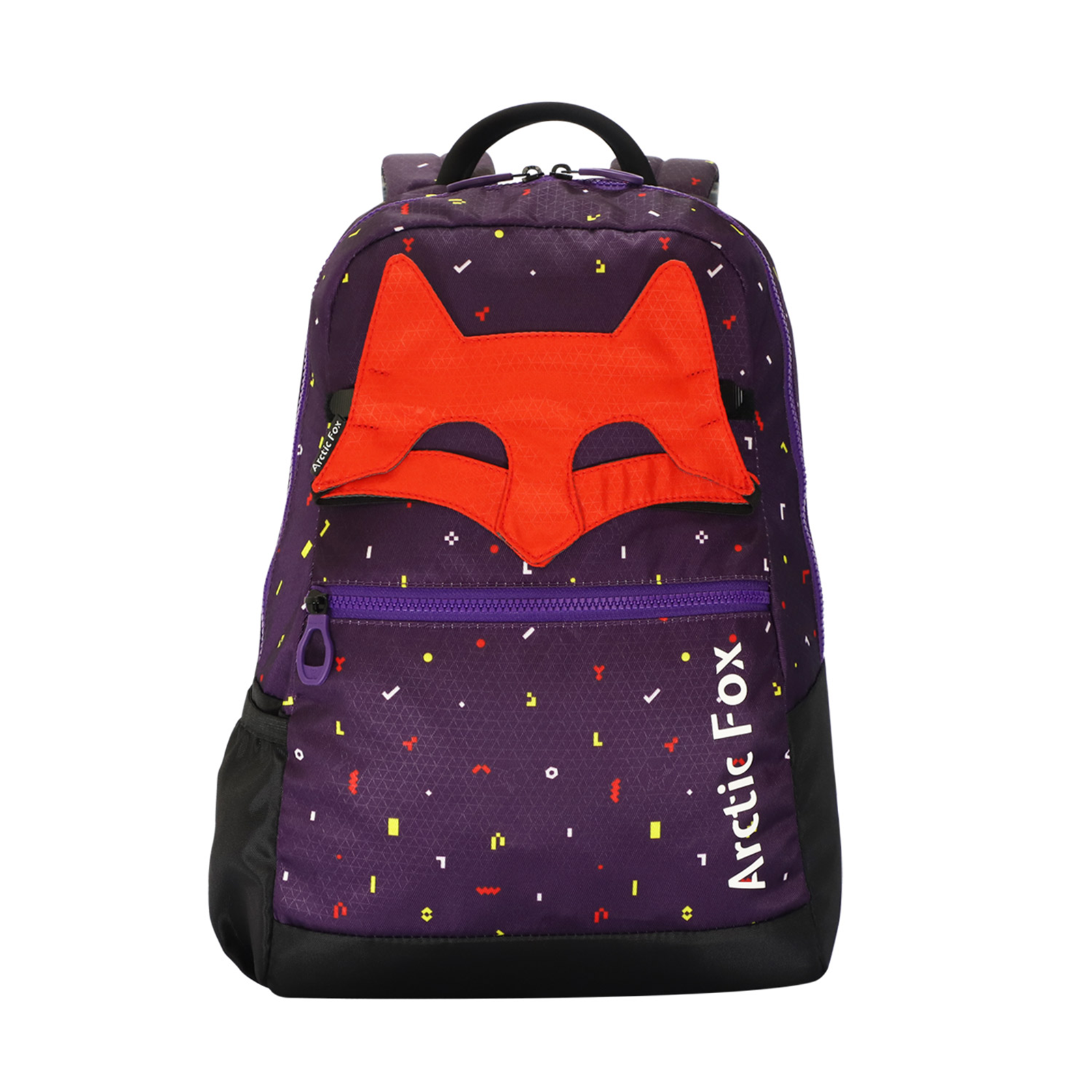 Arctic Fox Mask Petunia 17 Litres Twill Polyester Kids Backpack(Water Repellent Fabric, FKIBPKPETON005017, Purple)_1