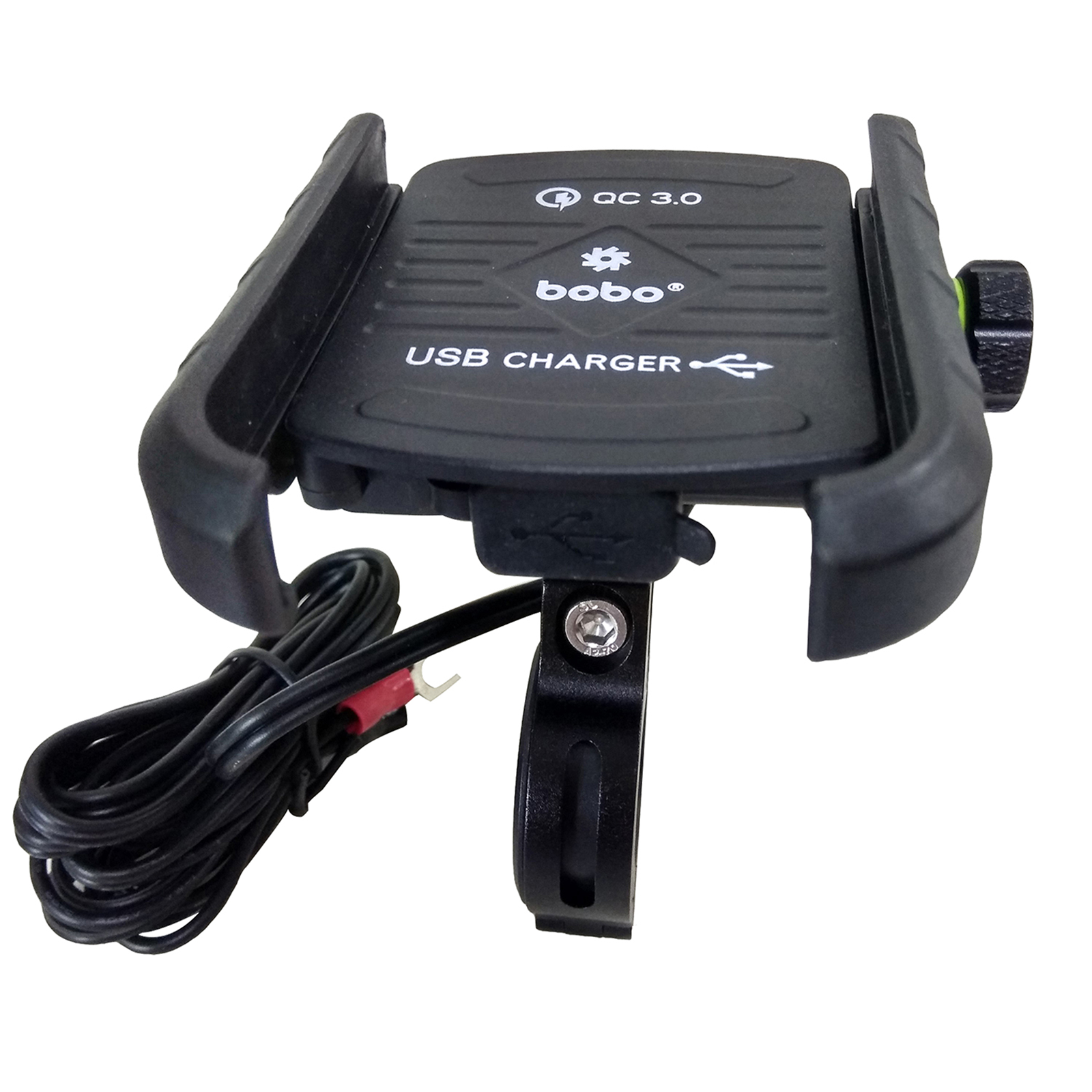 Bobo BM1 Jaw-Grip Mounting Kit For Bike (With Fast USB 3.0 Charger, BB-BM-001-001001, Black)_1