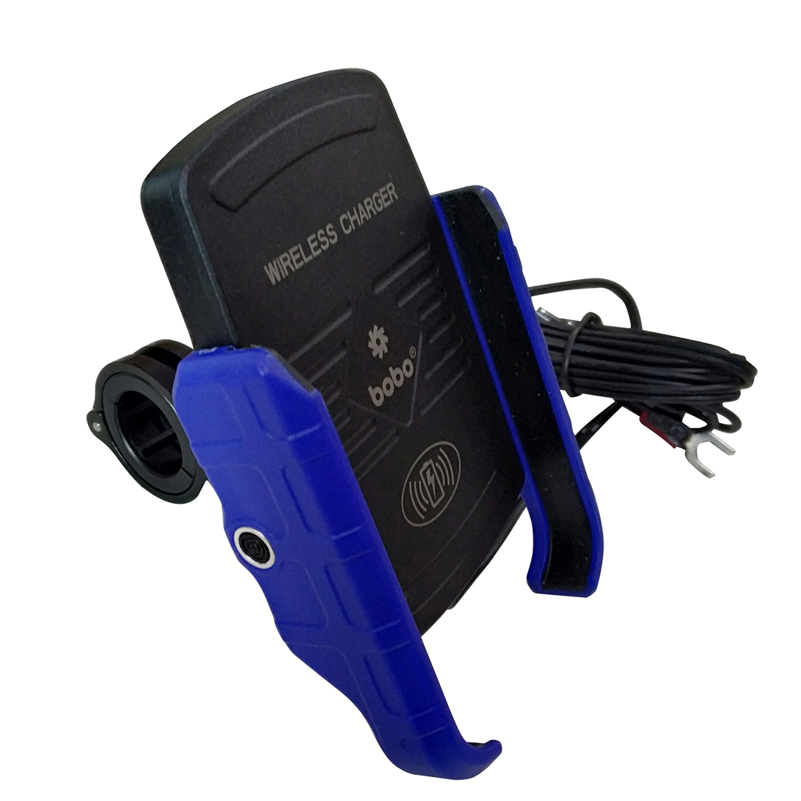 Bobo BM6 Jaw-Grip Mounting Kit For Bike (With Fast 15W Wireless Charger, BB-BM-006-001003, Blue)_1